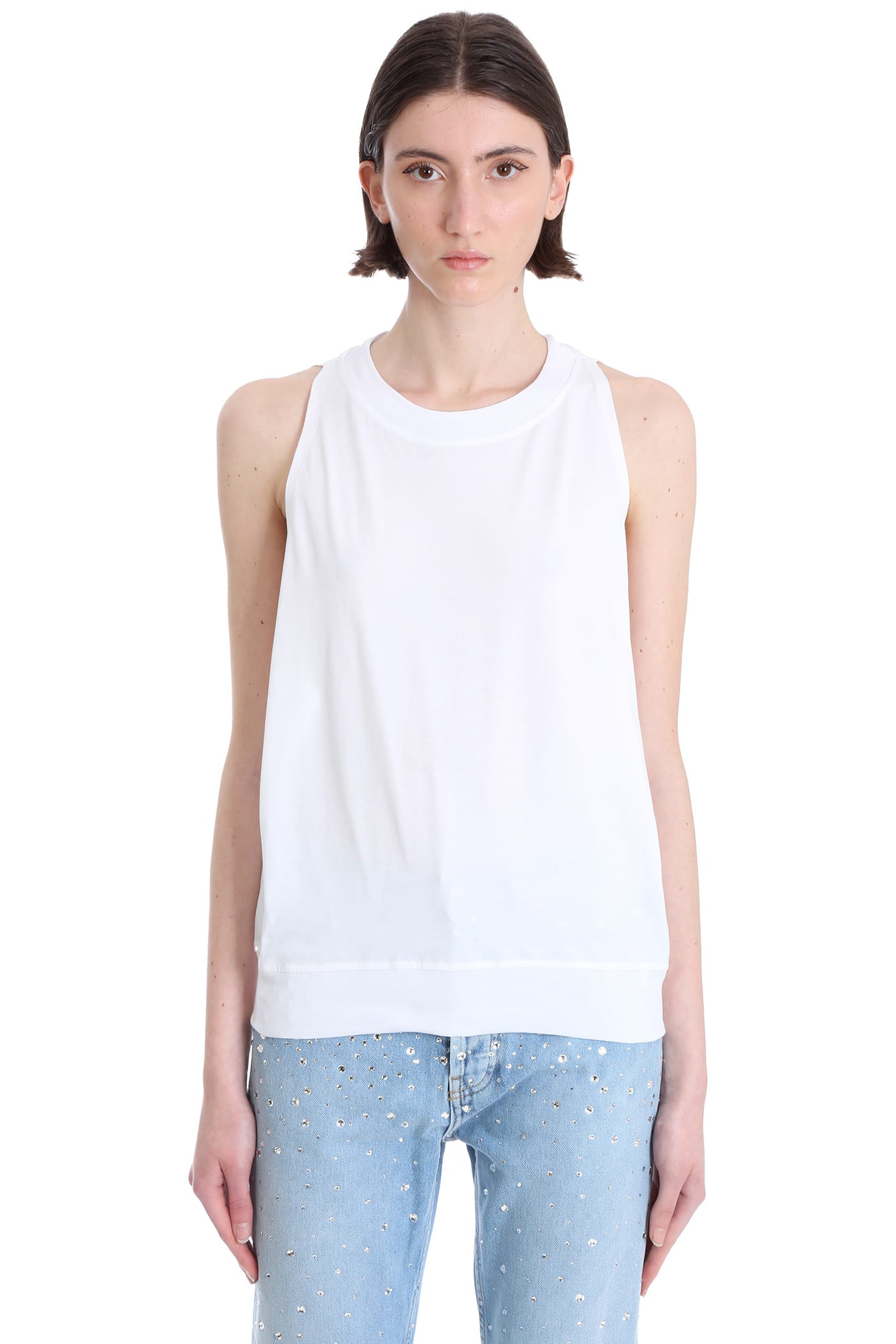 Alexandre Vauthier Tops TOPWEAR IN WHITE COTTON