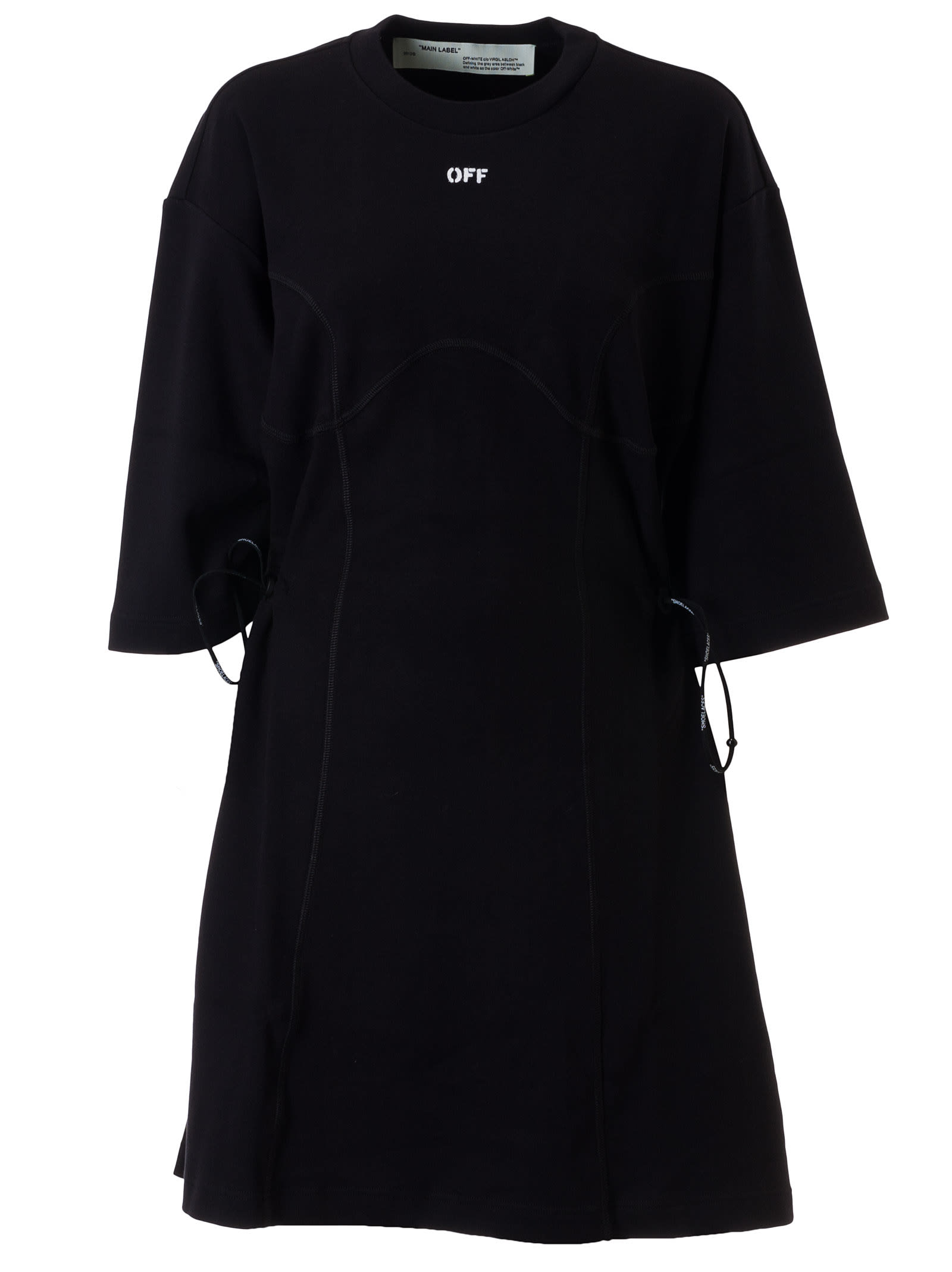 Buy Off-White Coulisse T-shirt Dress online, shop Off-White with free shipping