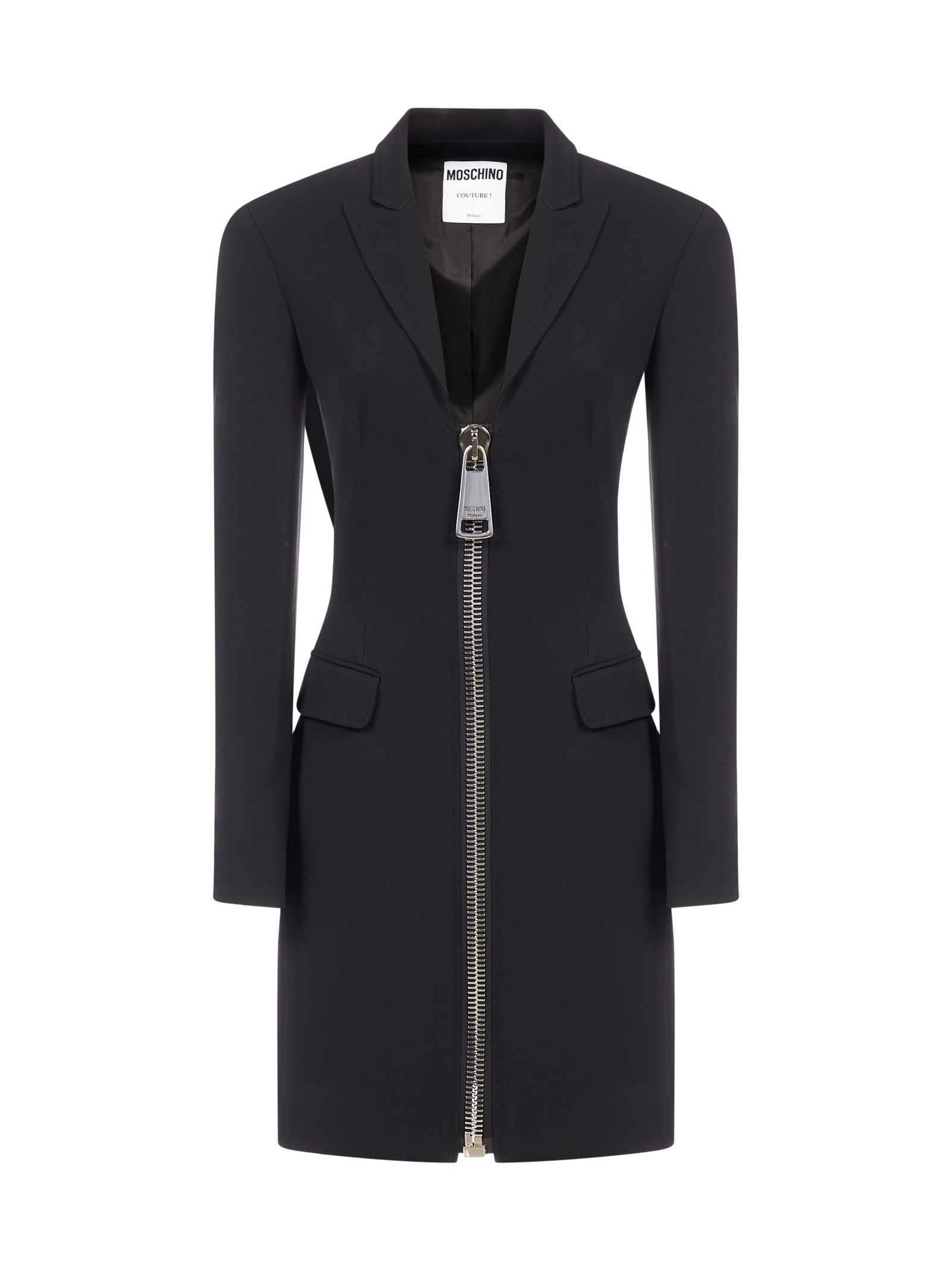 Moschino Zip Viscose Blazer- Dress