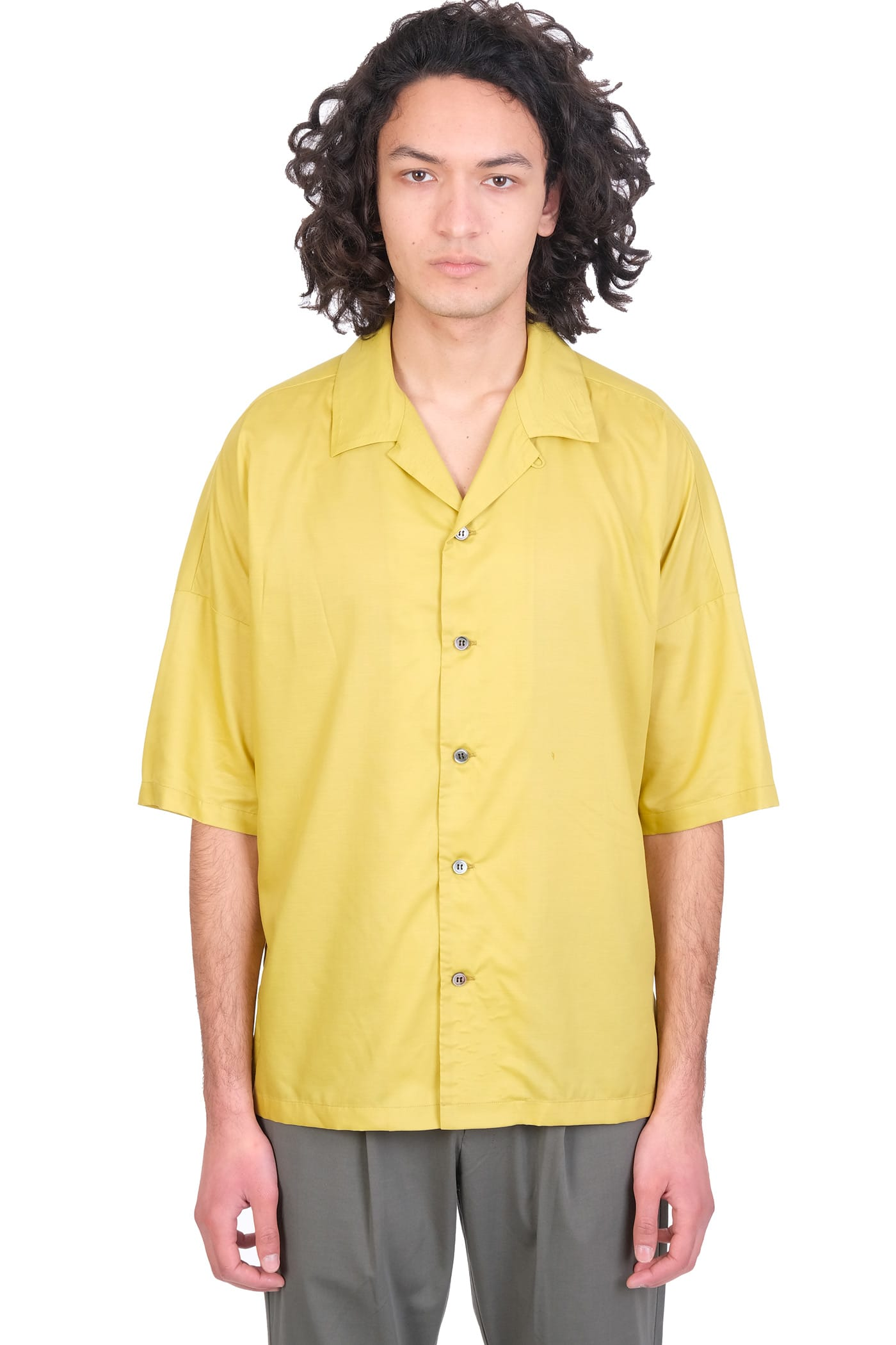 Shirt In Yellow Synthetic Fibers