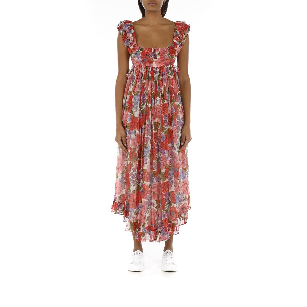 Buy Poppy Frill Edge Midi Dress online, shop Zimmermann with free shipping