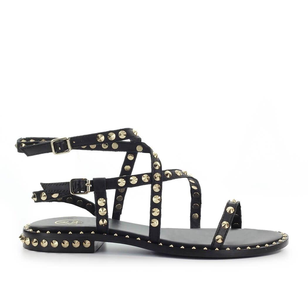 Ash Sandals PETRA BLACK FLAT SANDAL
