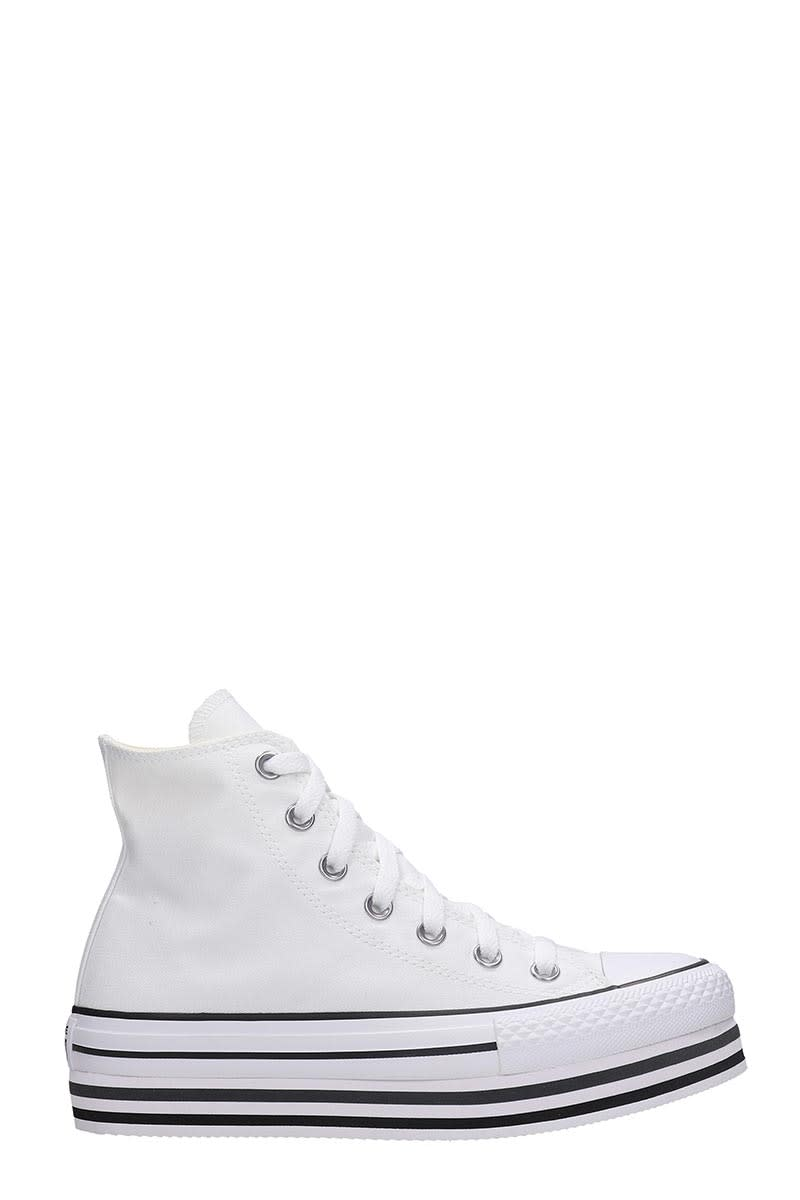 Converse Chuck Taylor Sneakers In White Canvas