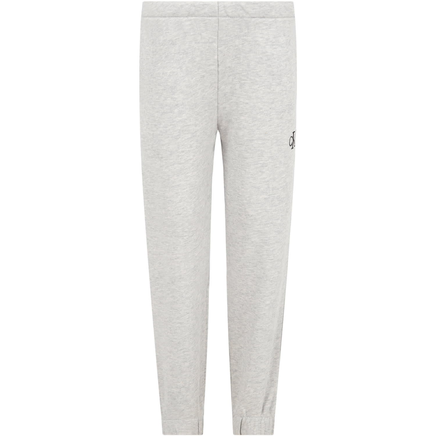 Calvin Klein GREY SWEATPANTS FOR GIRL WITH LOGO
