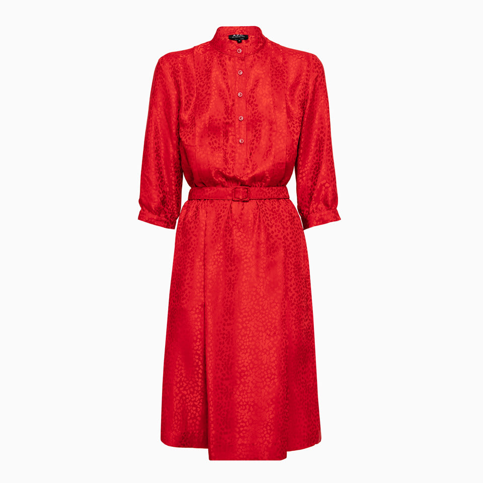 Buy A.p.c. Robe Marion Dress Seajj-f05505 online, shop A.P.C. with free shipping