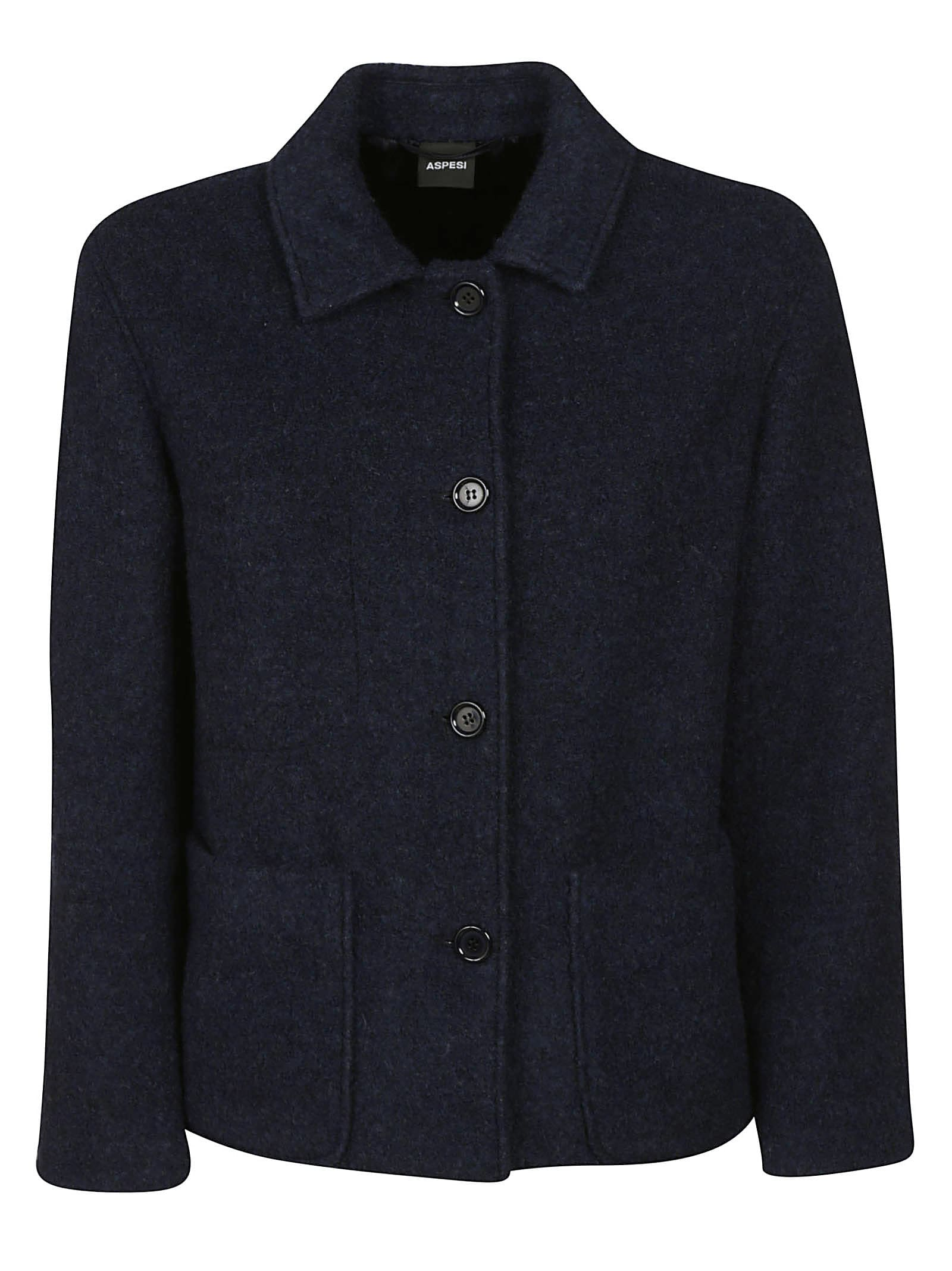 Aspesi Side Patch Buttoned Jacket