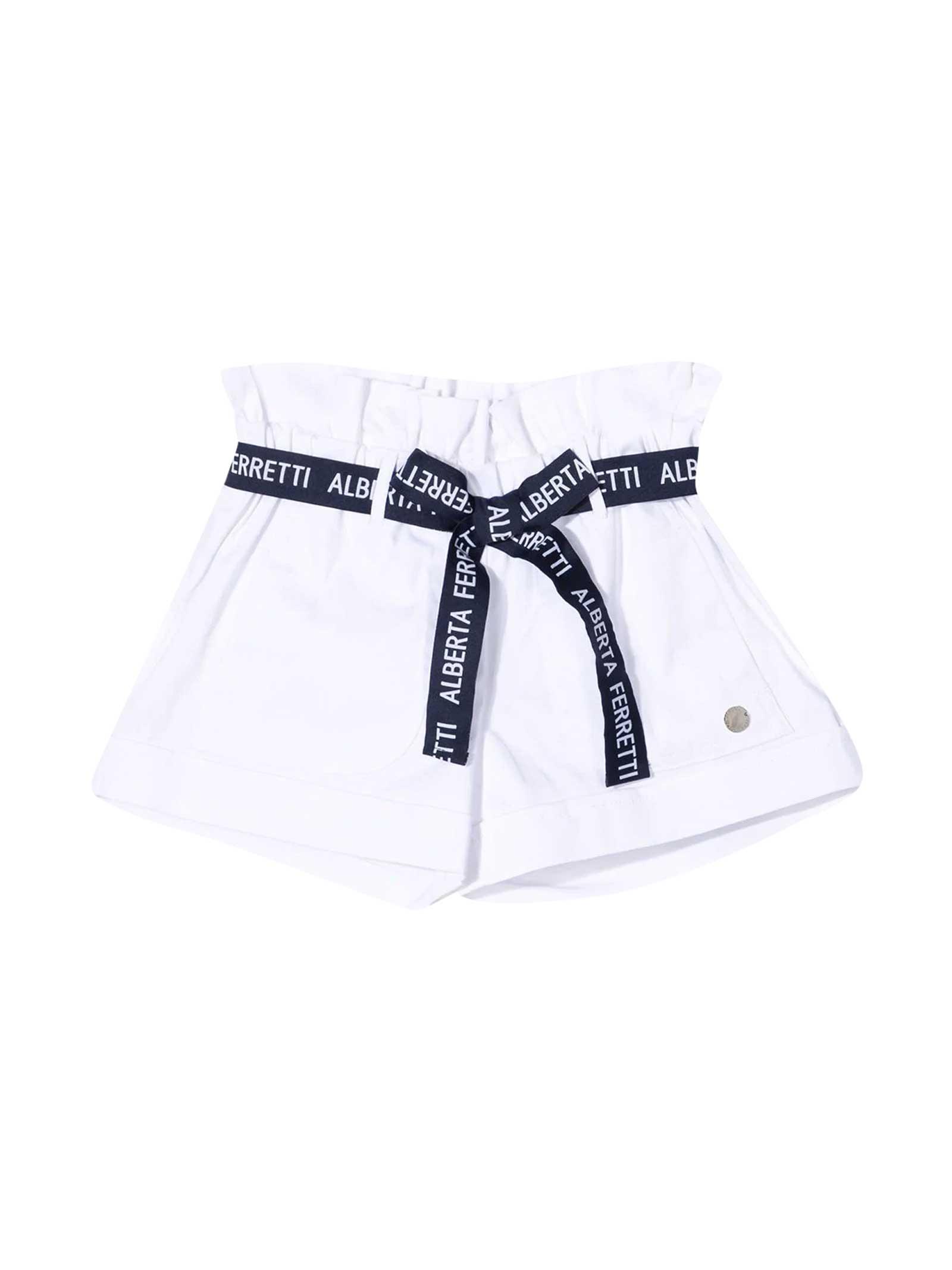 Alberta Ferretti Cottons WHITE SHORTS