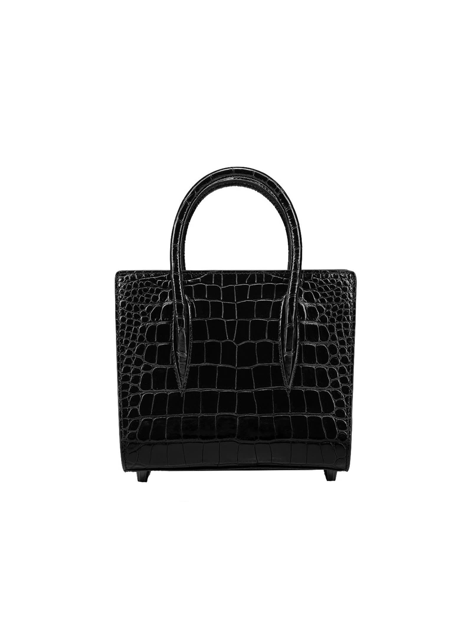 Christian Louboutin Teal Cocco Printed Leather Paloma Small Bag