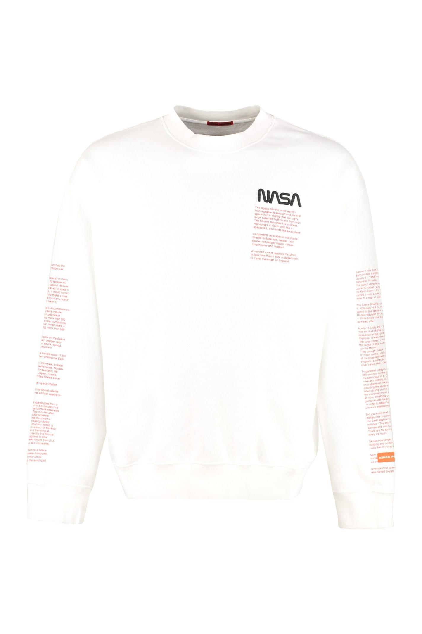HERON PRESTON Logo Detail Cotton Sweatshirt