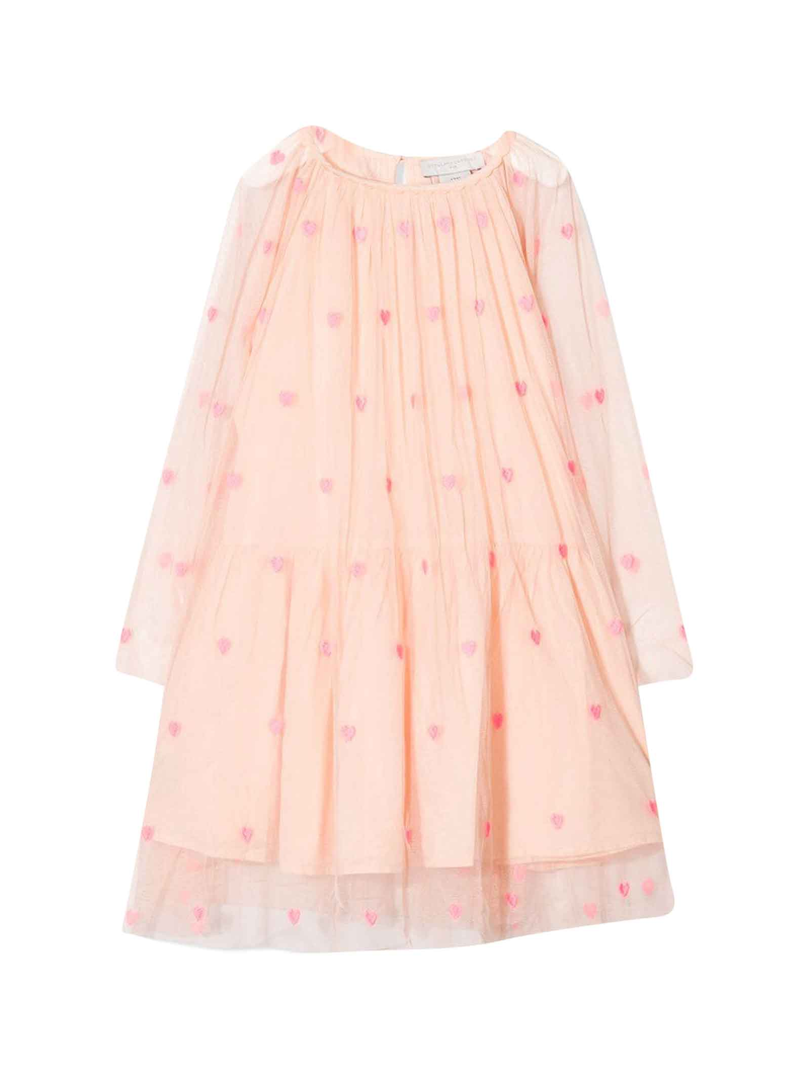 Buy Pink Dress With Long Sleeves Stella Mccartneys Kids online, shop Stella McCartney Kids with free shipping