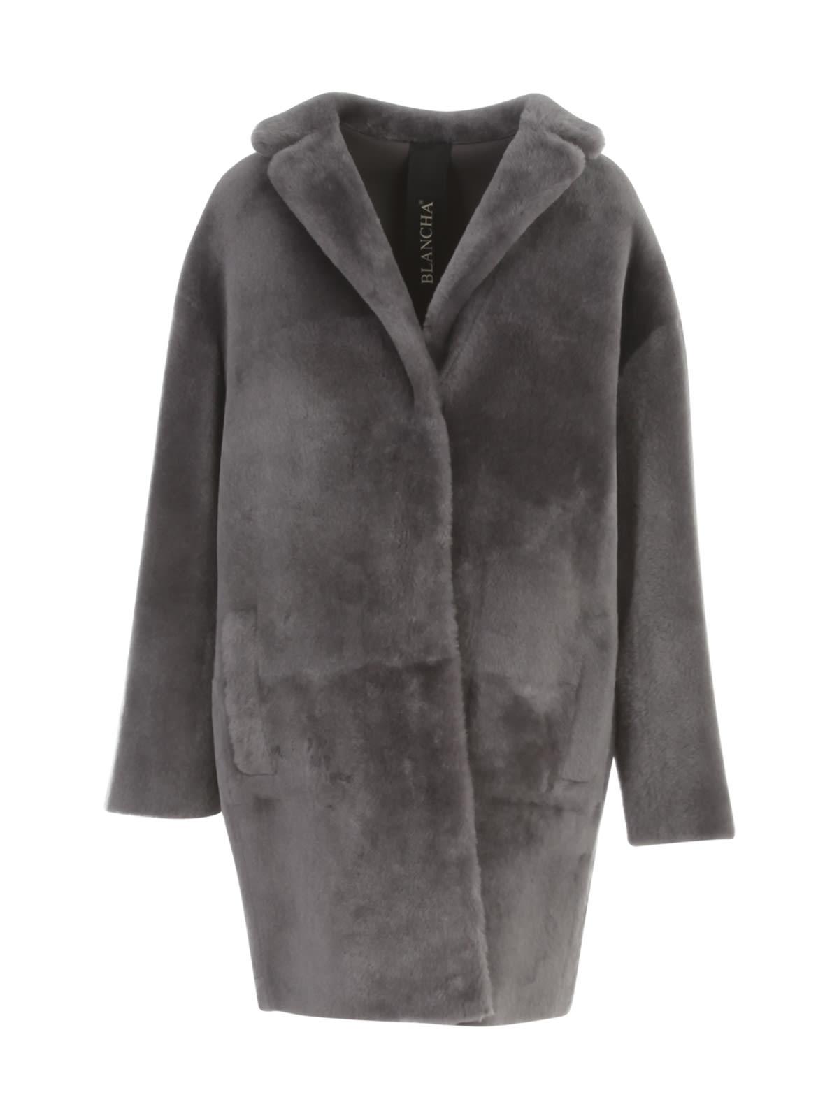 Merino Straight Coat W/high Central Slit