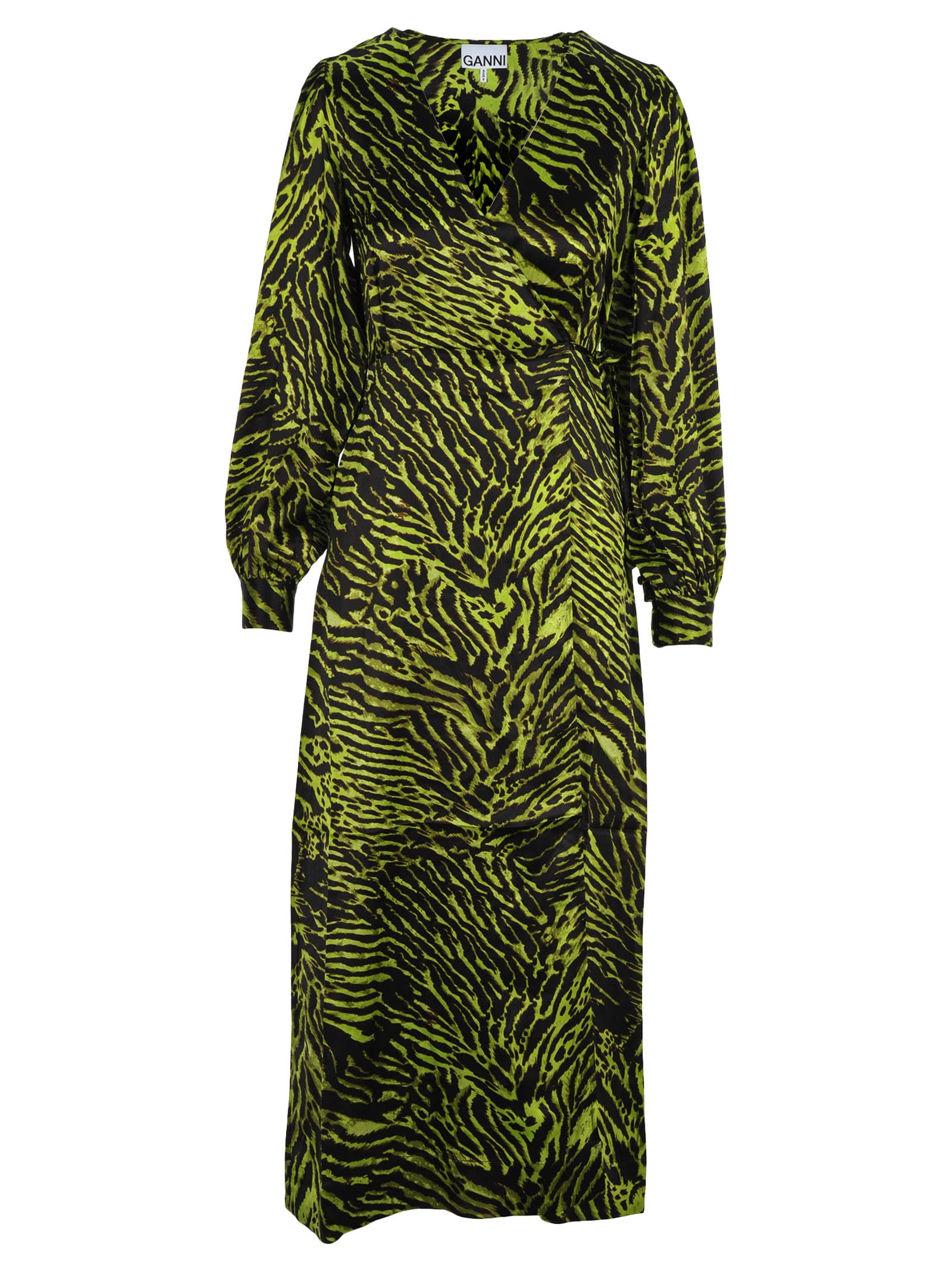 Ganni Tiger Print Dress