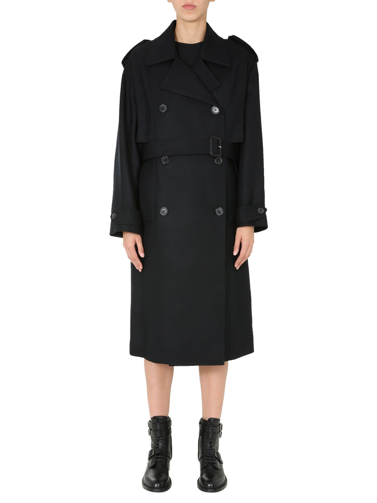 Saint Laurent Clothing DOUBLE-BREASTED TRENCH