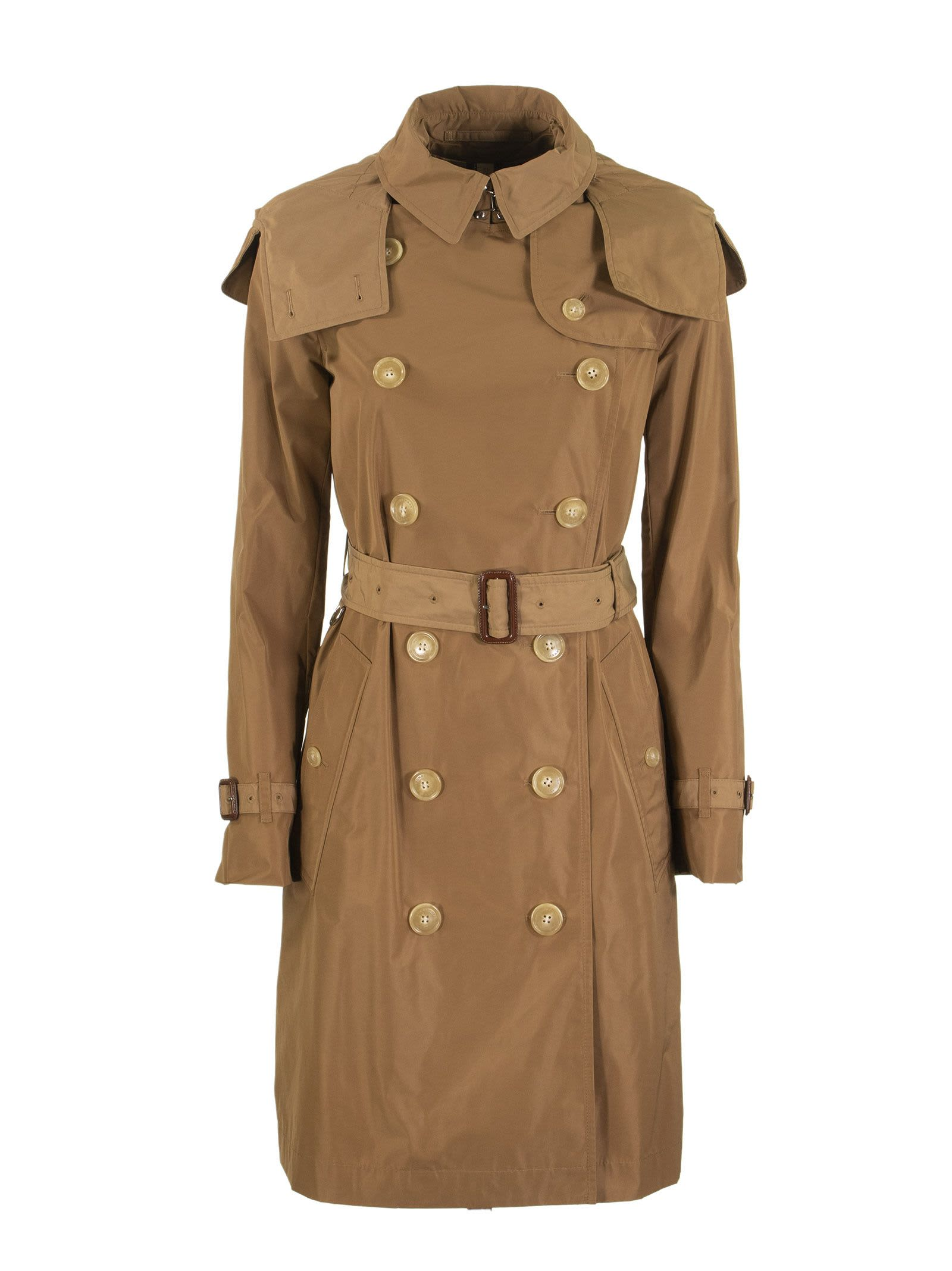 Kensington Detachable Hood Taffeta Trench Coat