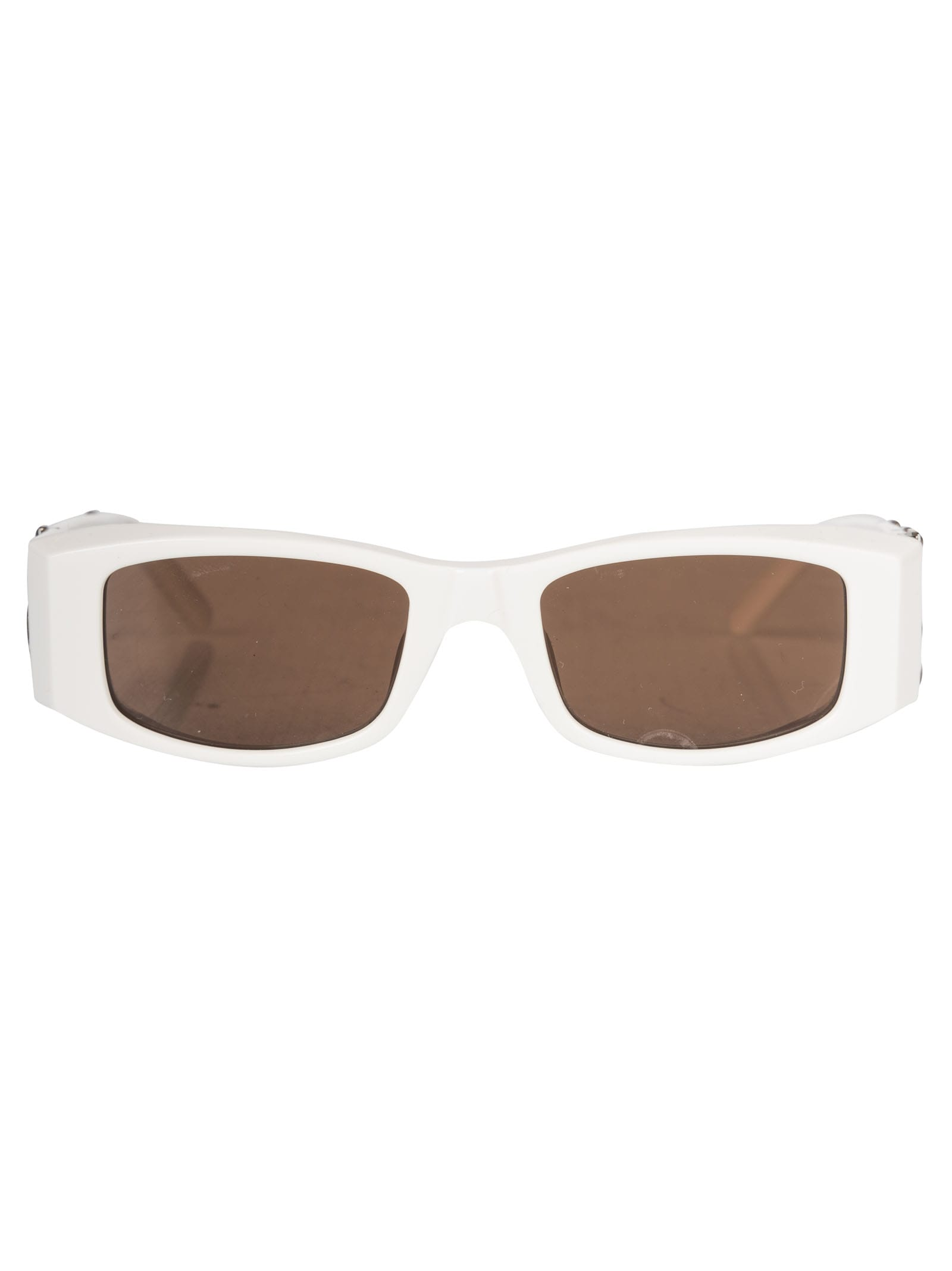 Palm Angels Pa01 Sunglasses In White/brown