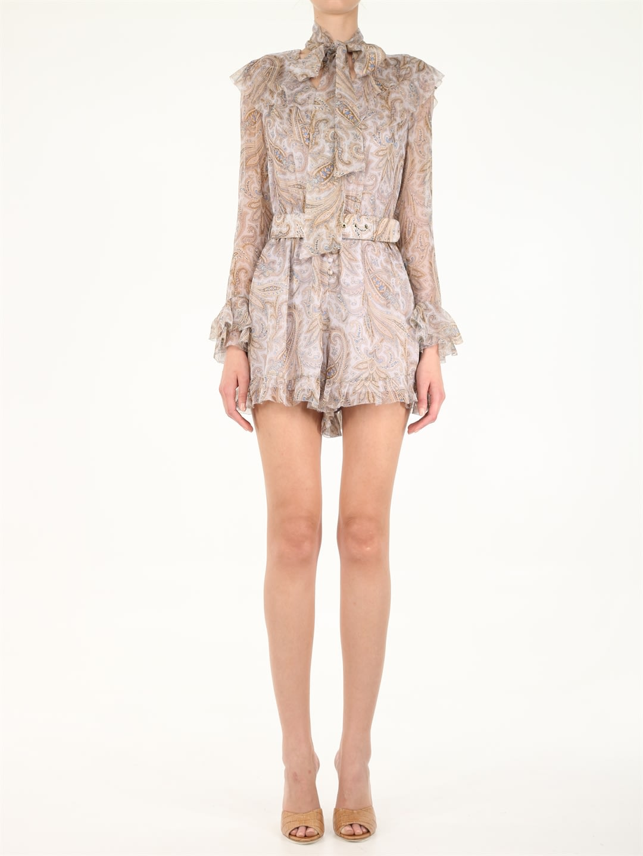 Buy Zimmermann Printed Silk Jumpsuit Dress online, shop Zimmermann with free shipping