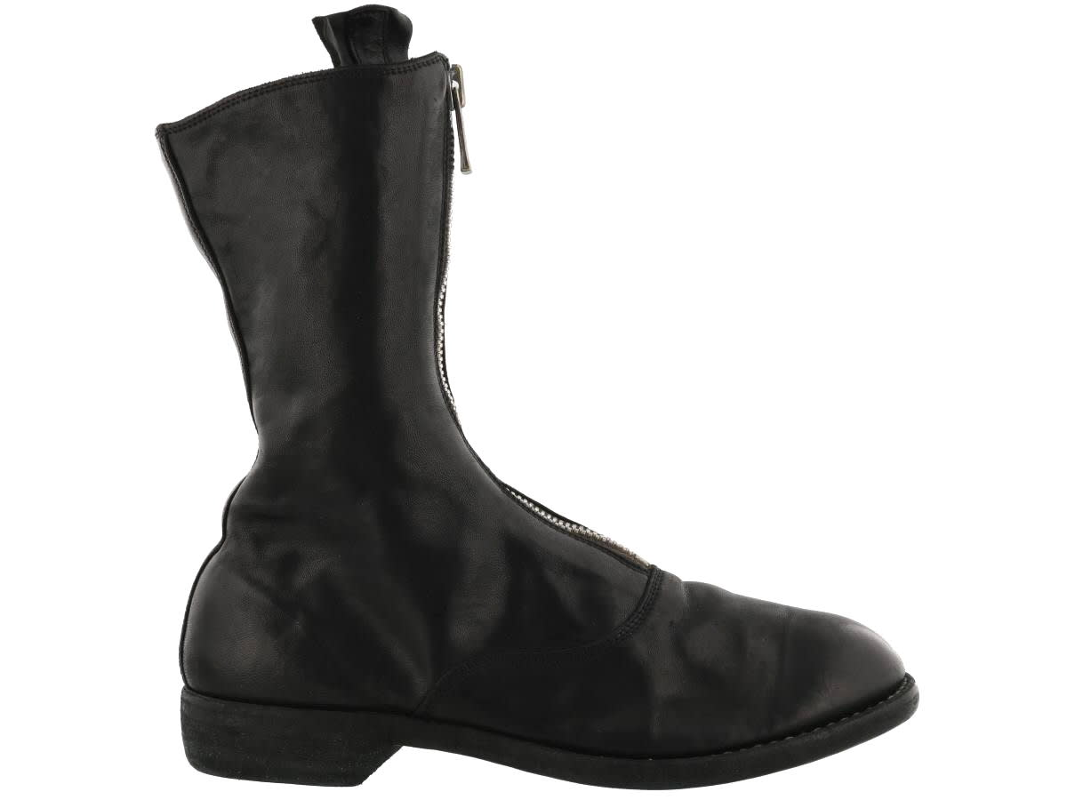 Guidi FRONT ZIP ARMY BOOTS