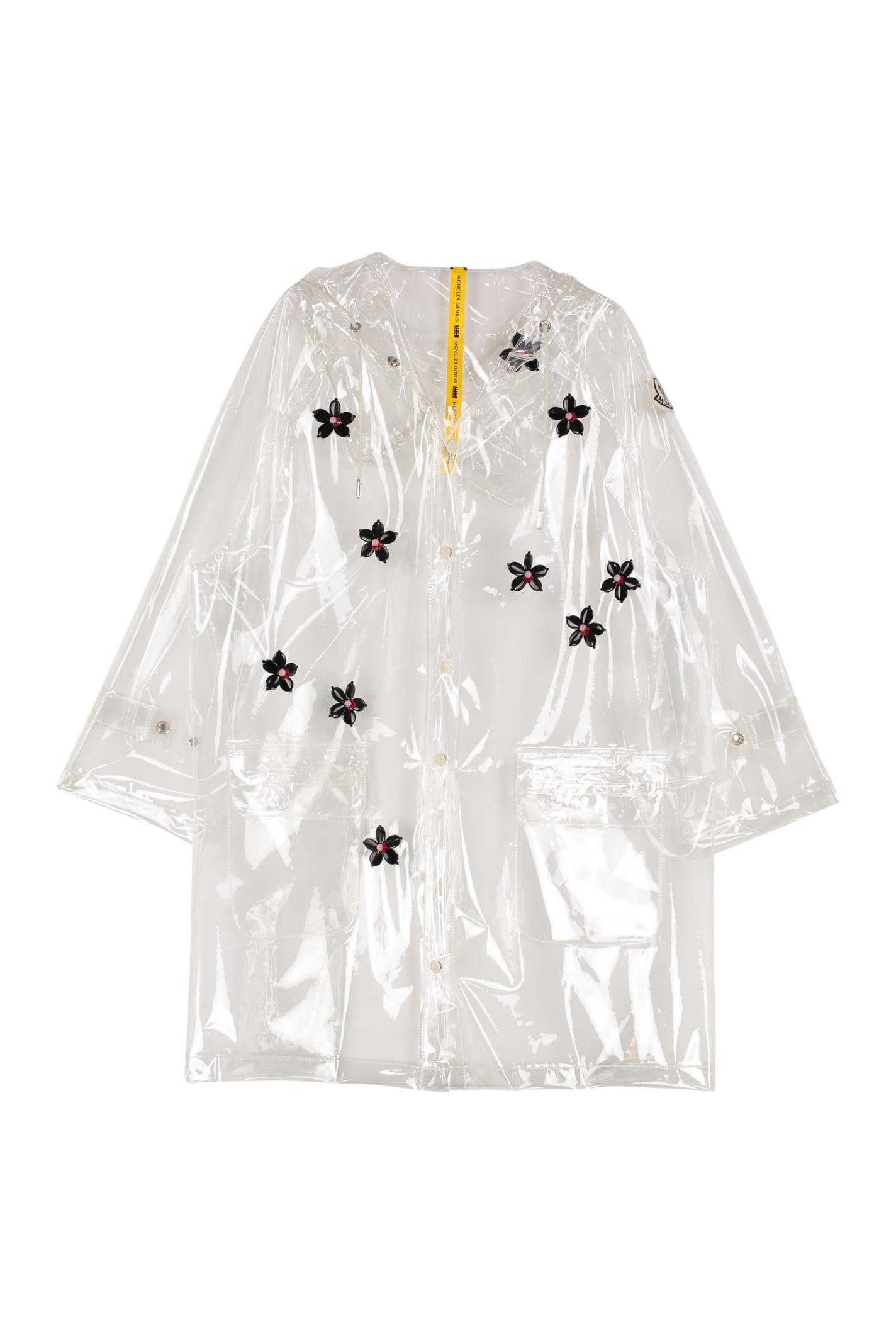 Moncler Floral Embroidery Pvc Raincoat