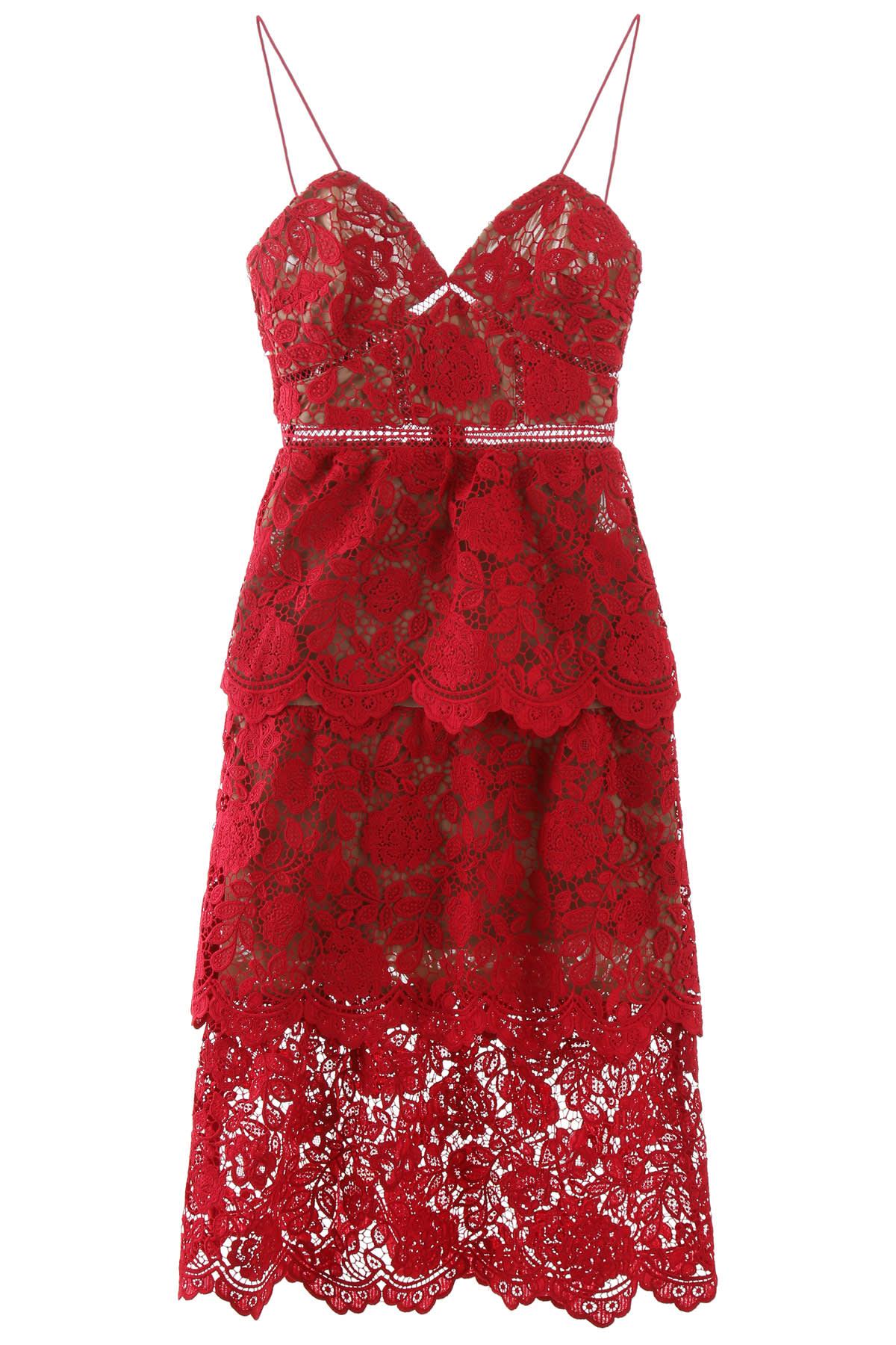 Buy Azalea Midi Dress online, shop self-portrait with free shipping