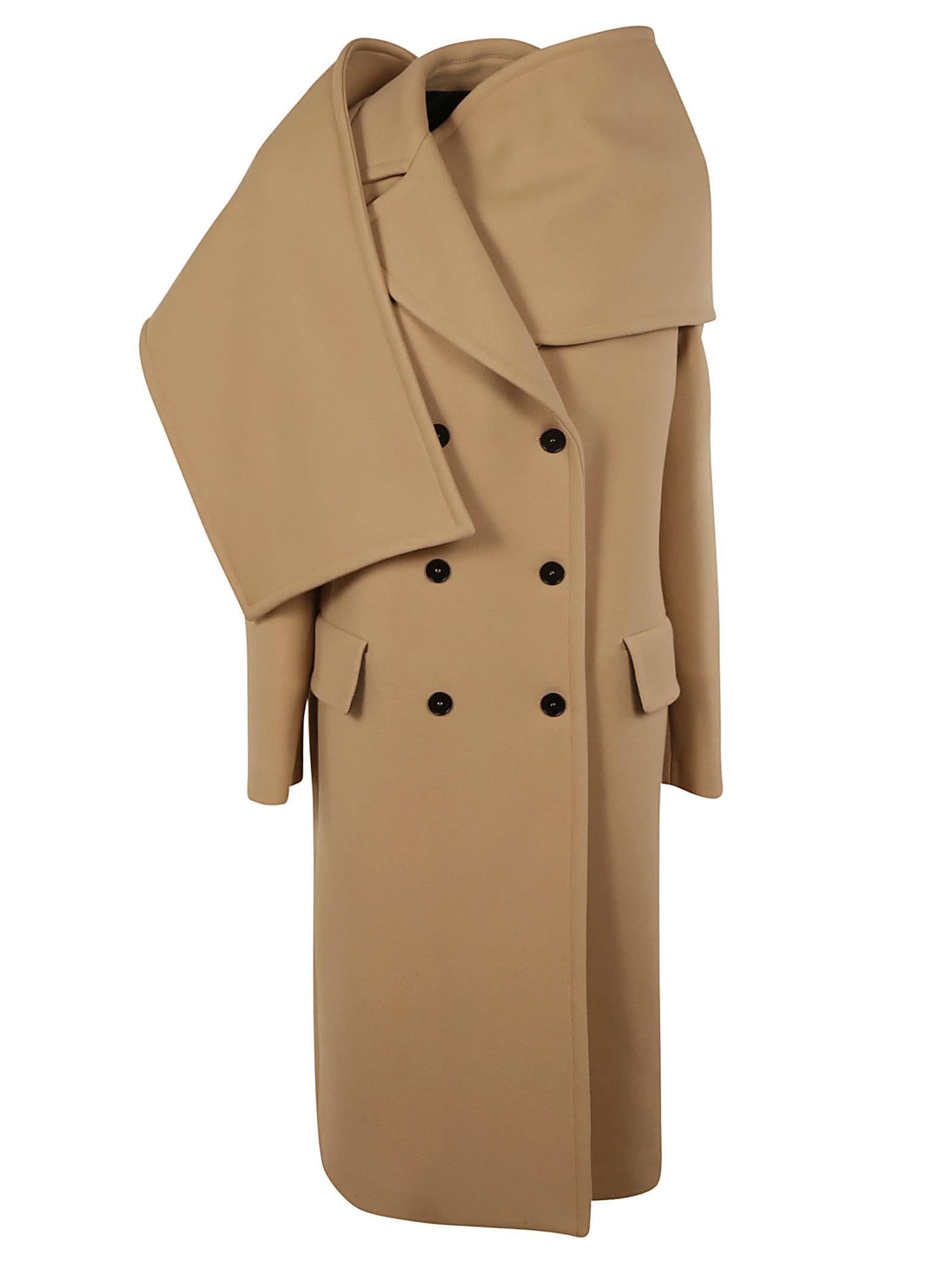 Photo of  MSGM Double-breasted Long Coat- shop MSGM jackets online sales