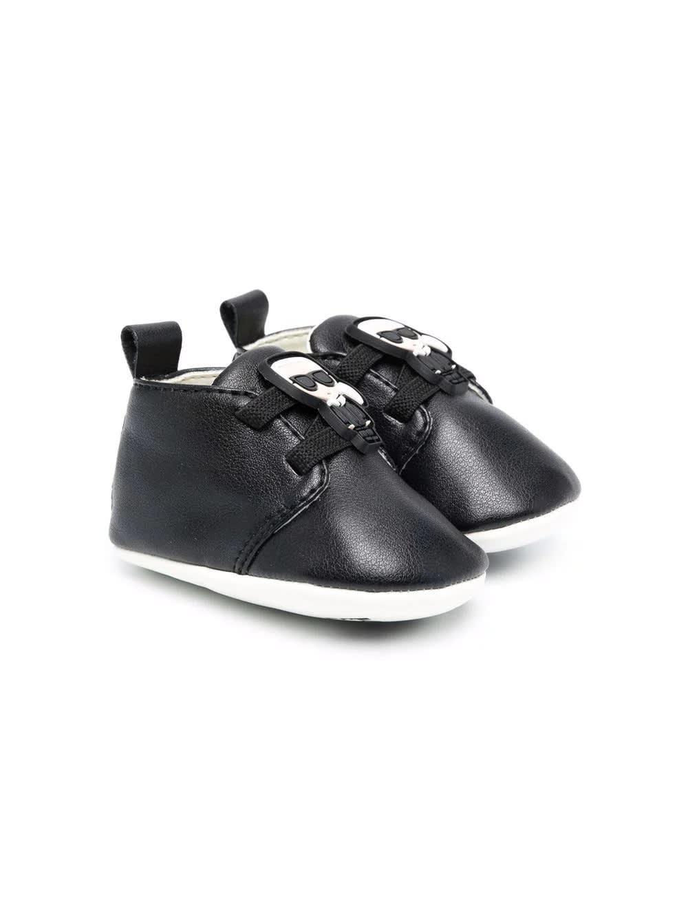 Black First Steps Shoe