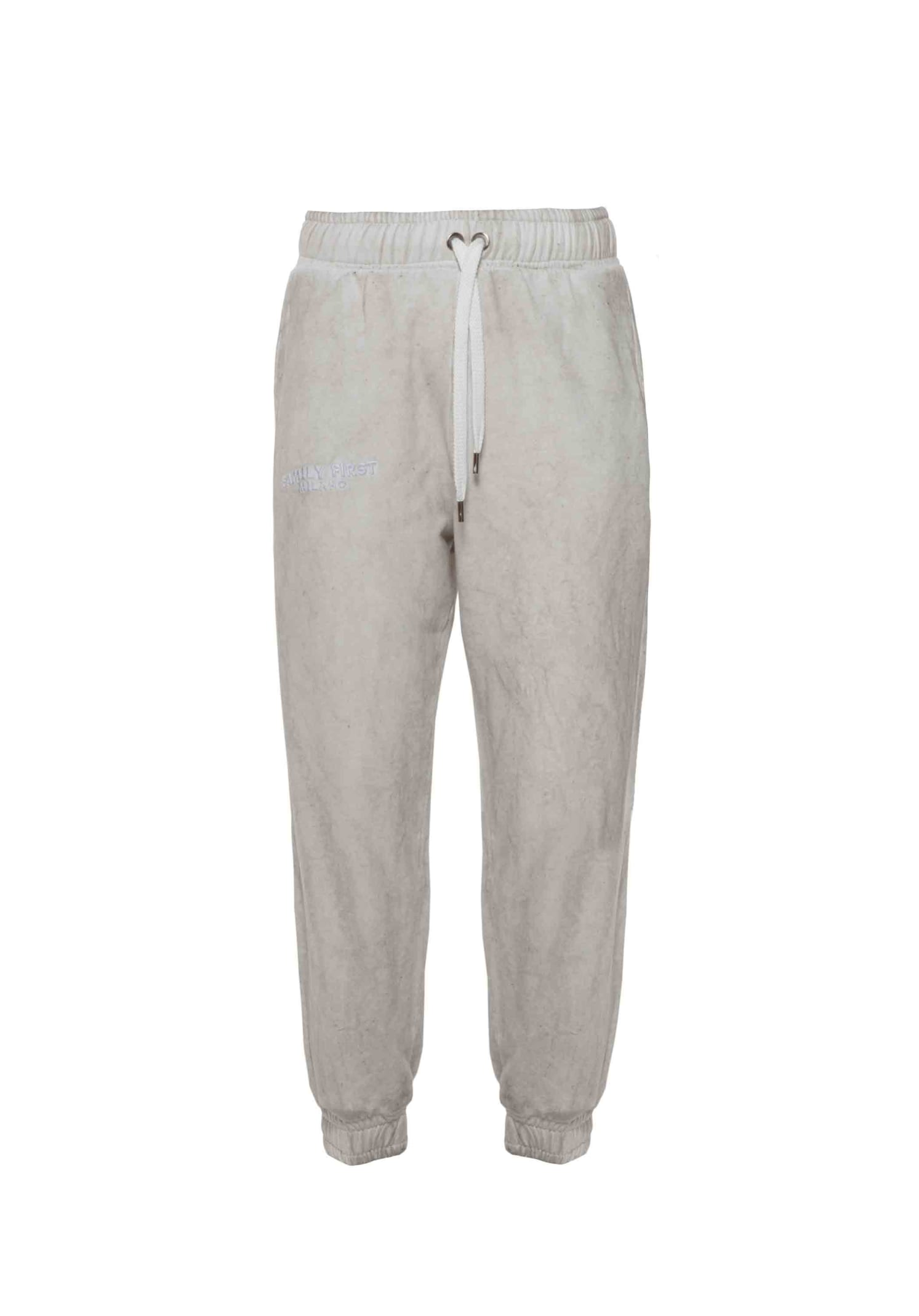 Jogger Pants Logo White