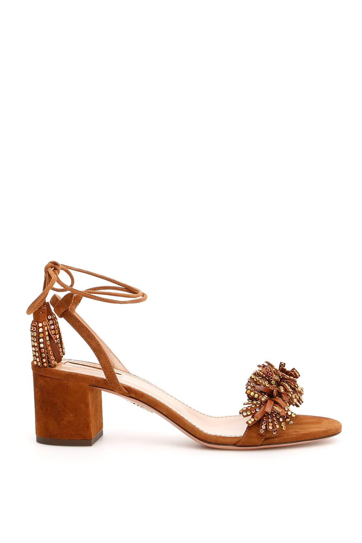 top brands differently outlet Aquazzura Aquazzura Wild Crystal Sandals 50 - CINNAMON ...