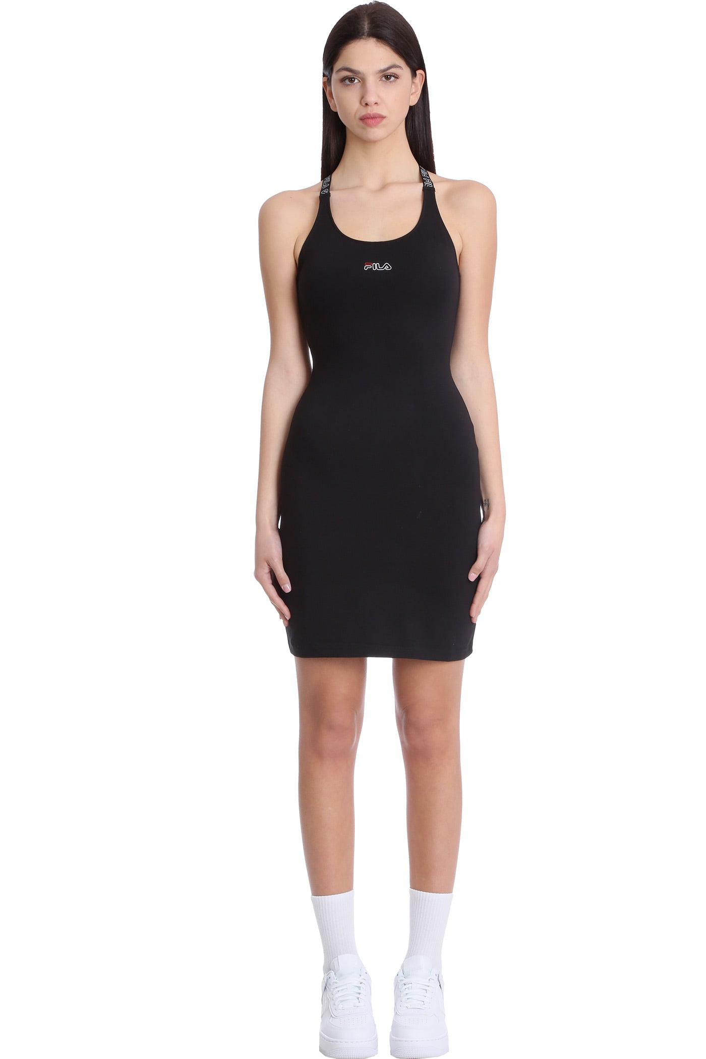 Buy Fila Jahel Dress In Black Cotton online, shop Fila with free shipping