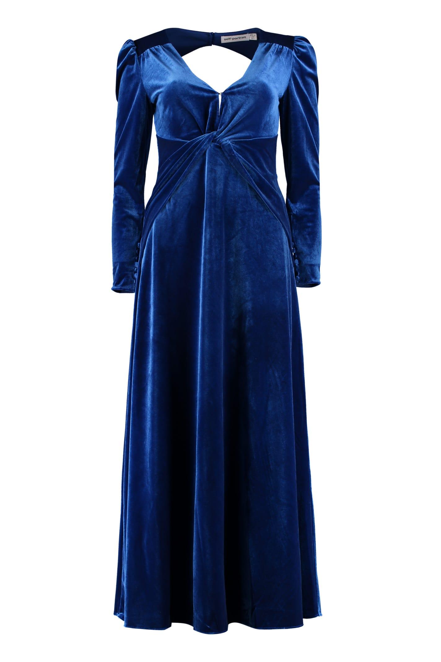 Buy self-portrait Velvet Dress online, shop self-portrait with free shipping