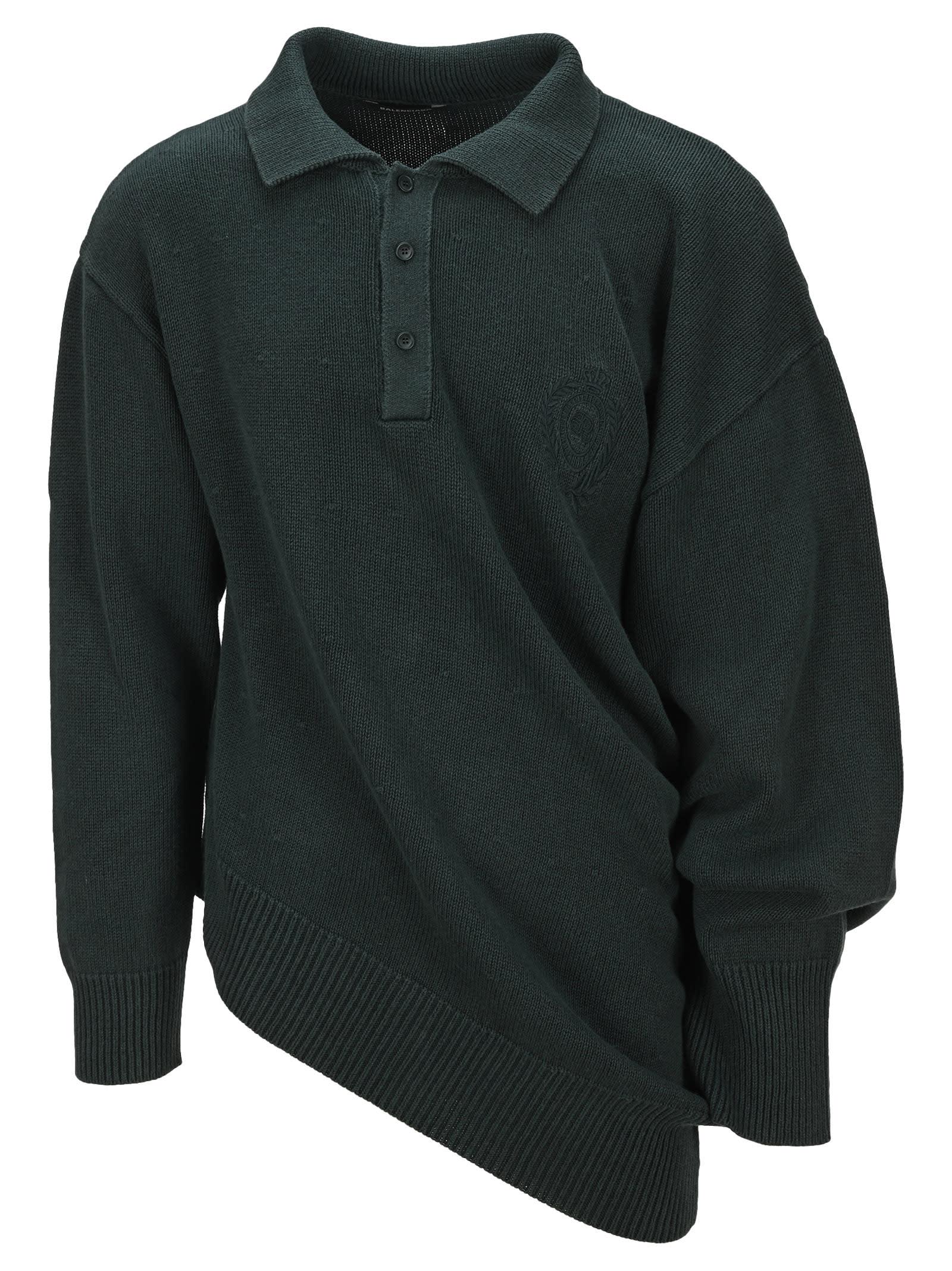 Balenciaga Deformed Rugby Polo Sweater