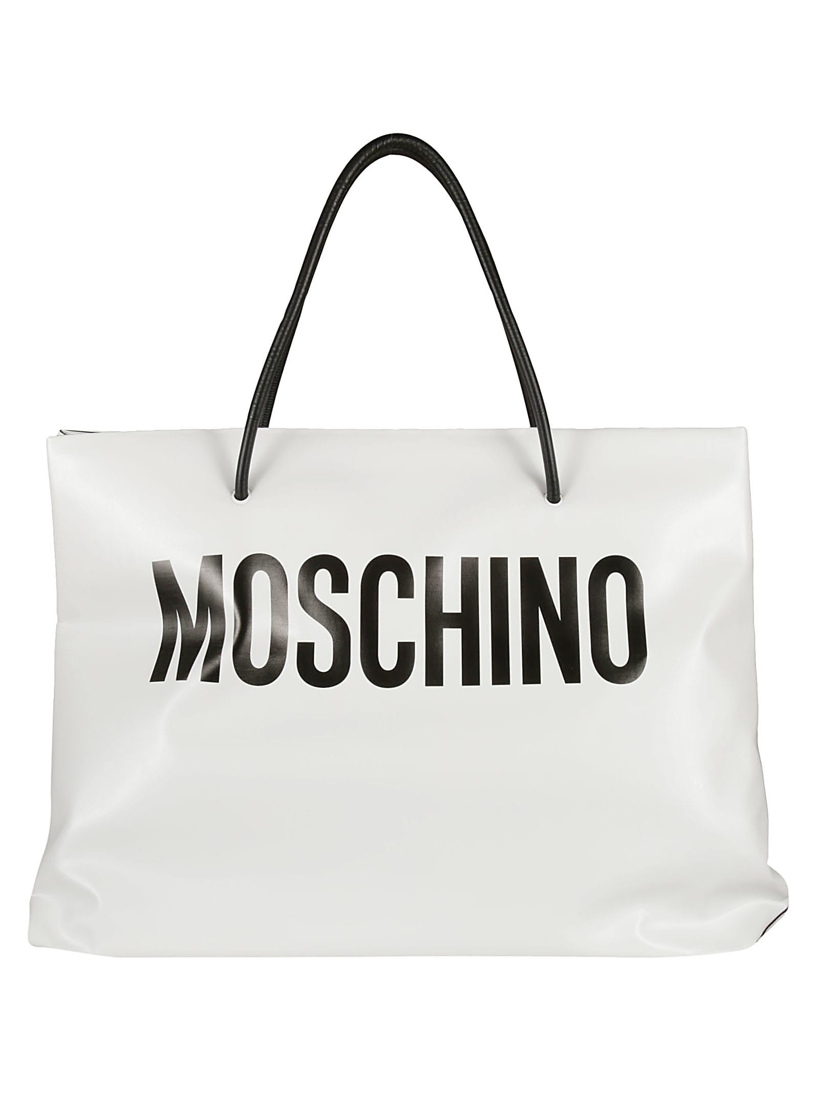 Moschino LOGO PRINT SHOPPER BAG