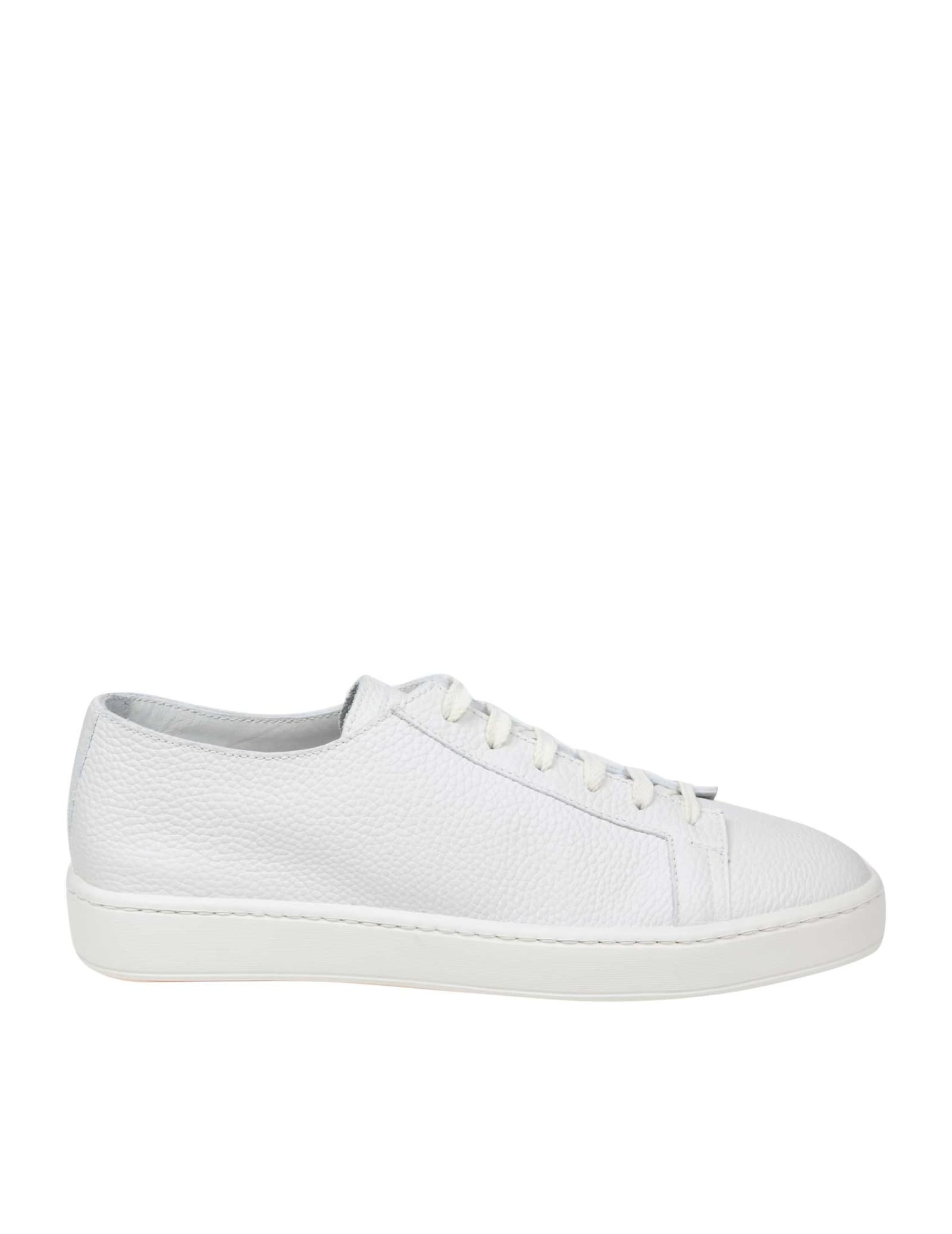 Sneakers Santoni With Nappa White Color