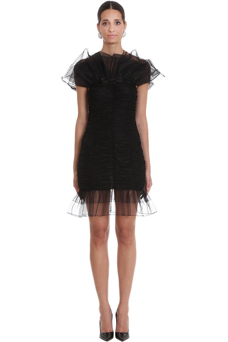 Alessandra Rich Dress In Black Polyamide