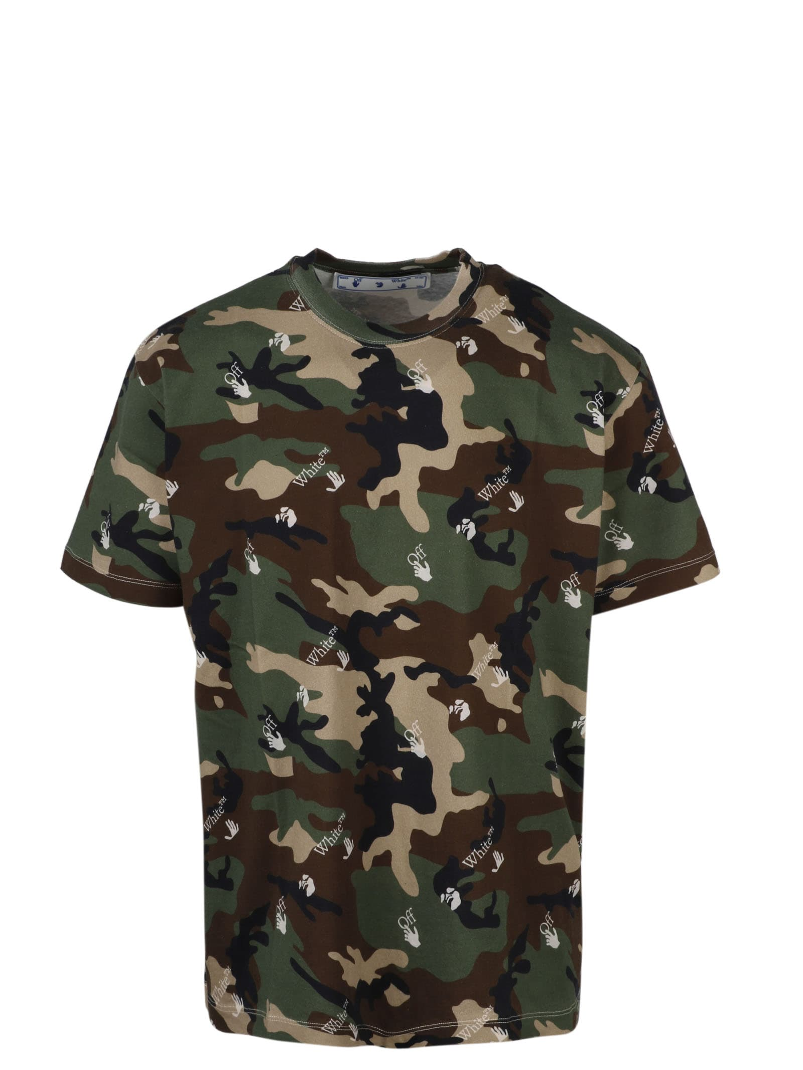 Off-White CAMOUFLAGE OFF HAND T-SHIRT