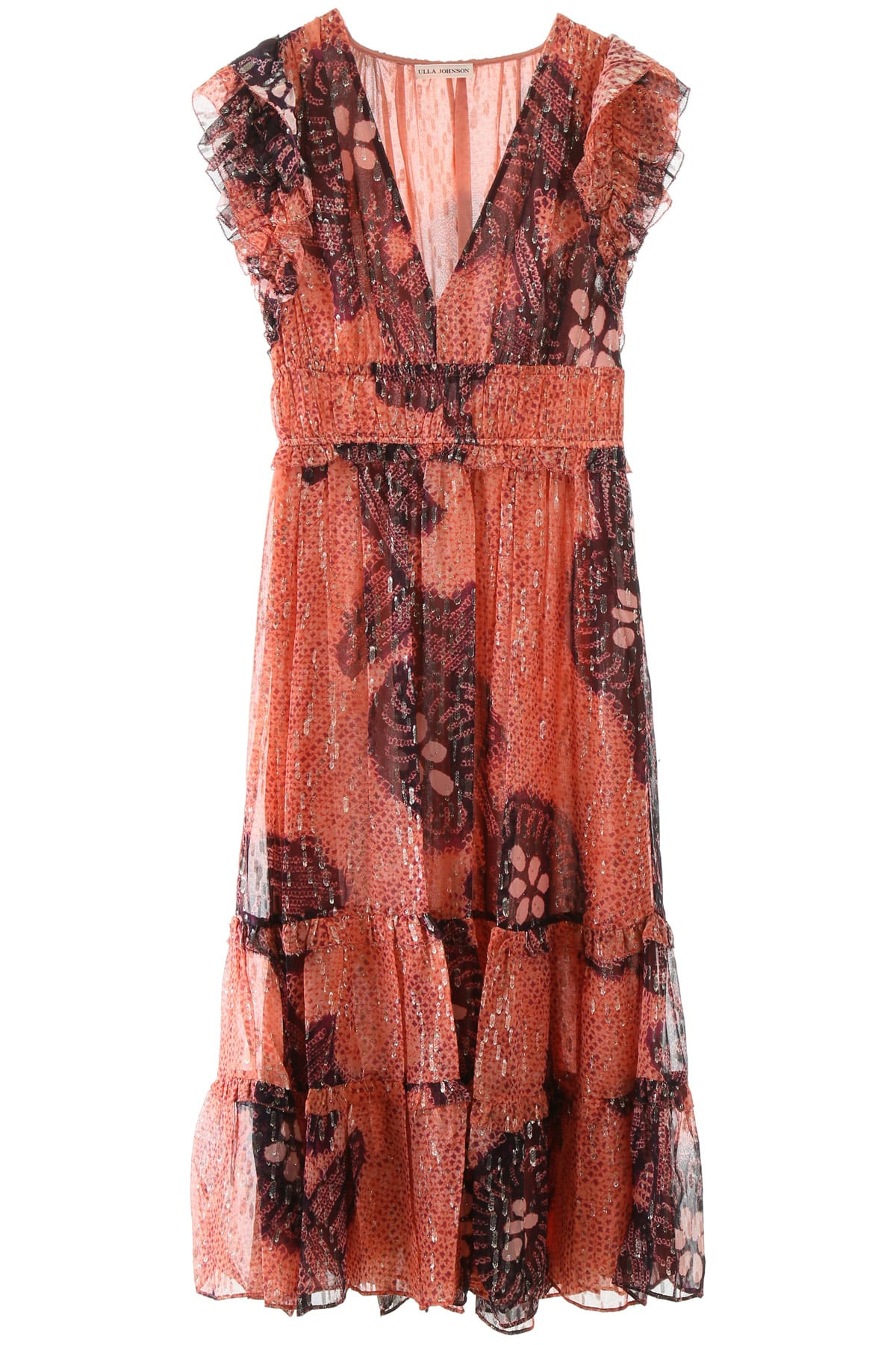 Buy Ulla Johnson Akira Silk Dress online, shop Ulla Johnson with free shipping
