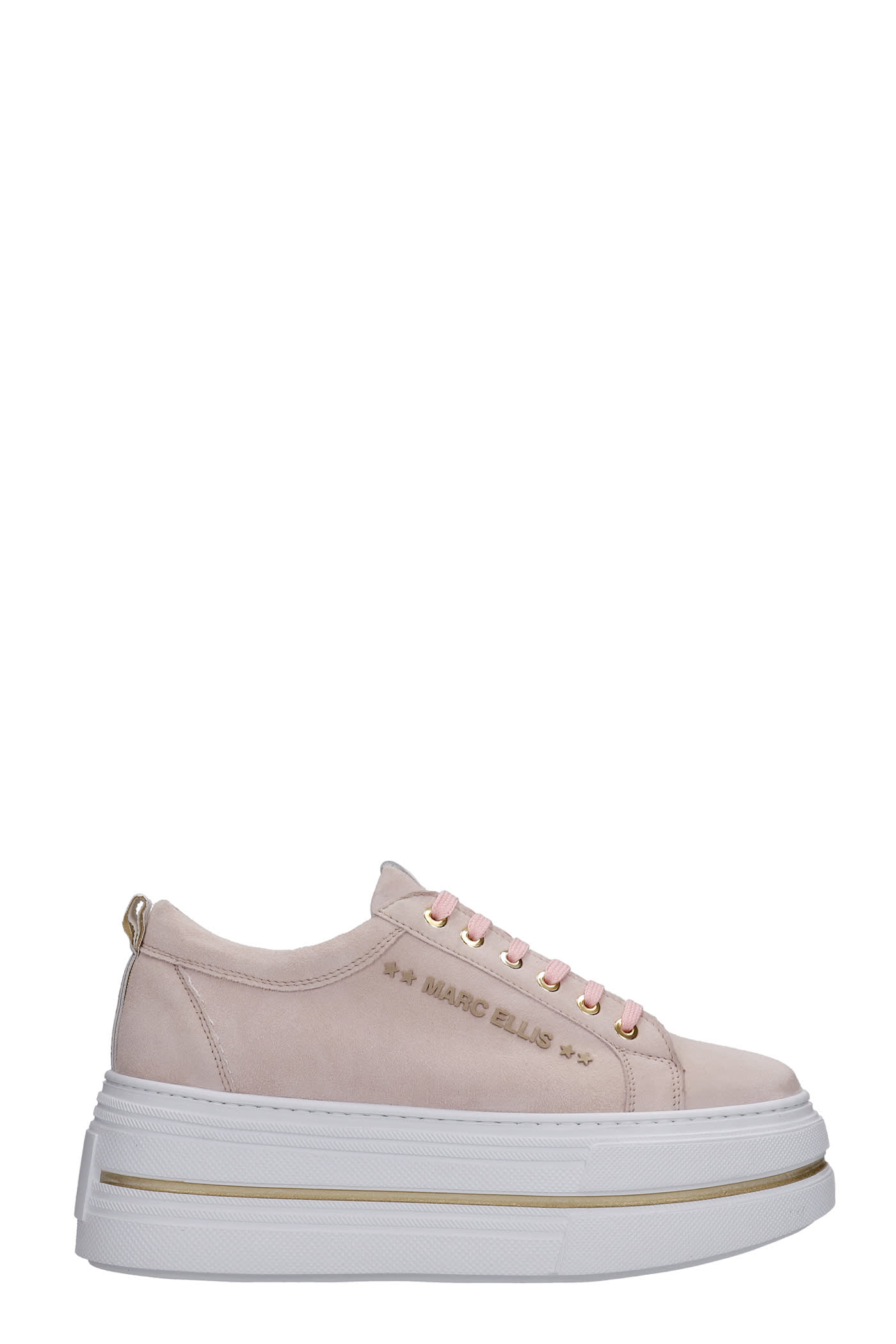 Sneakers In Rose-pink Suede