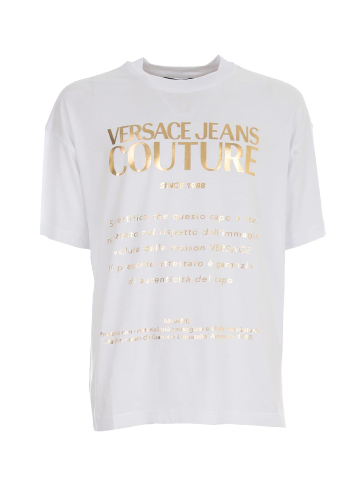Versace Jeans Couture Over Gazanzia Foil Jersey T-shirt