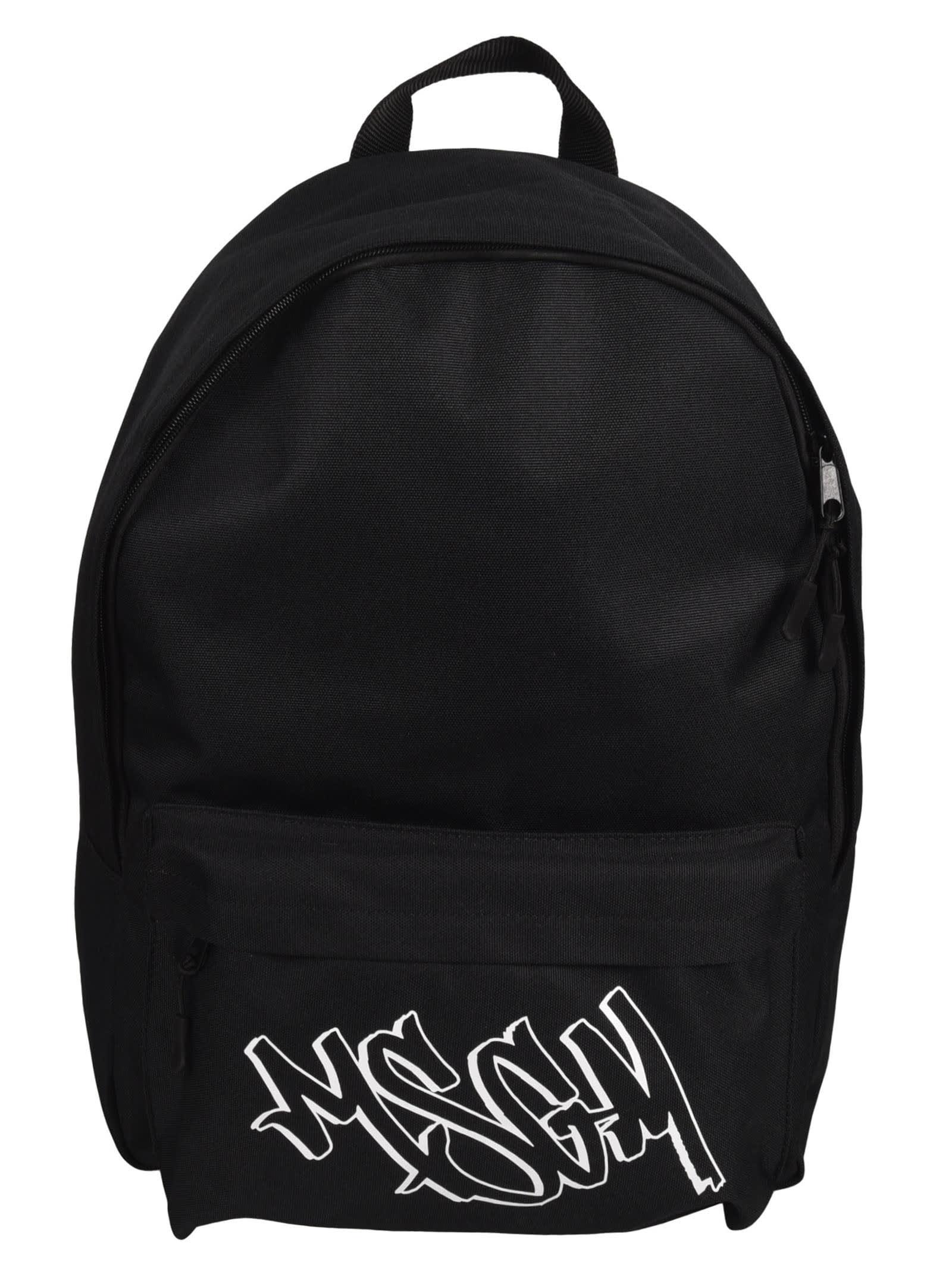 Msgm Backpacks GRAFFITI LOGO BACKPACK