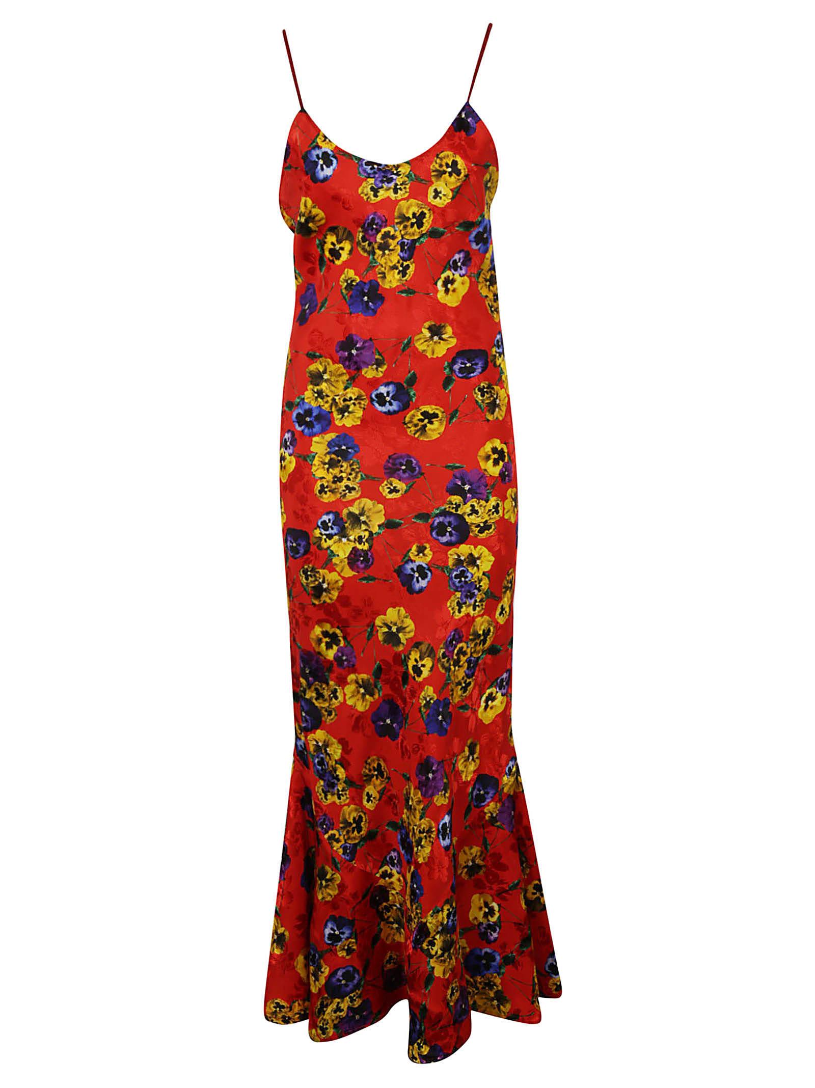 The Attico Floral Printed Maxi Dress