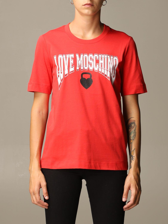 Love Moschino T-shirt Love Moschino Cotton T-shirt With Boxing Print