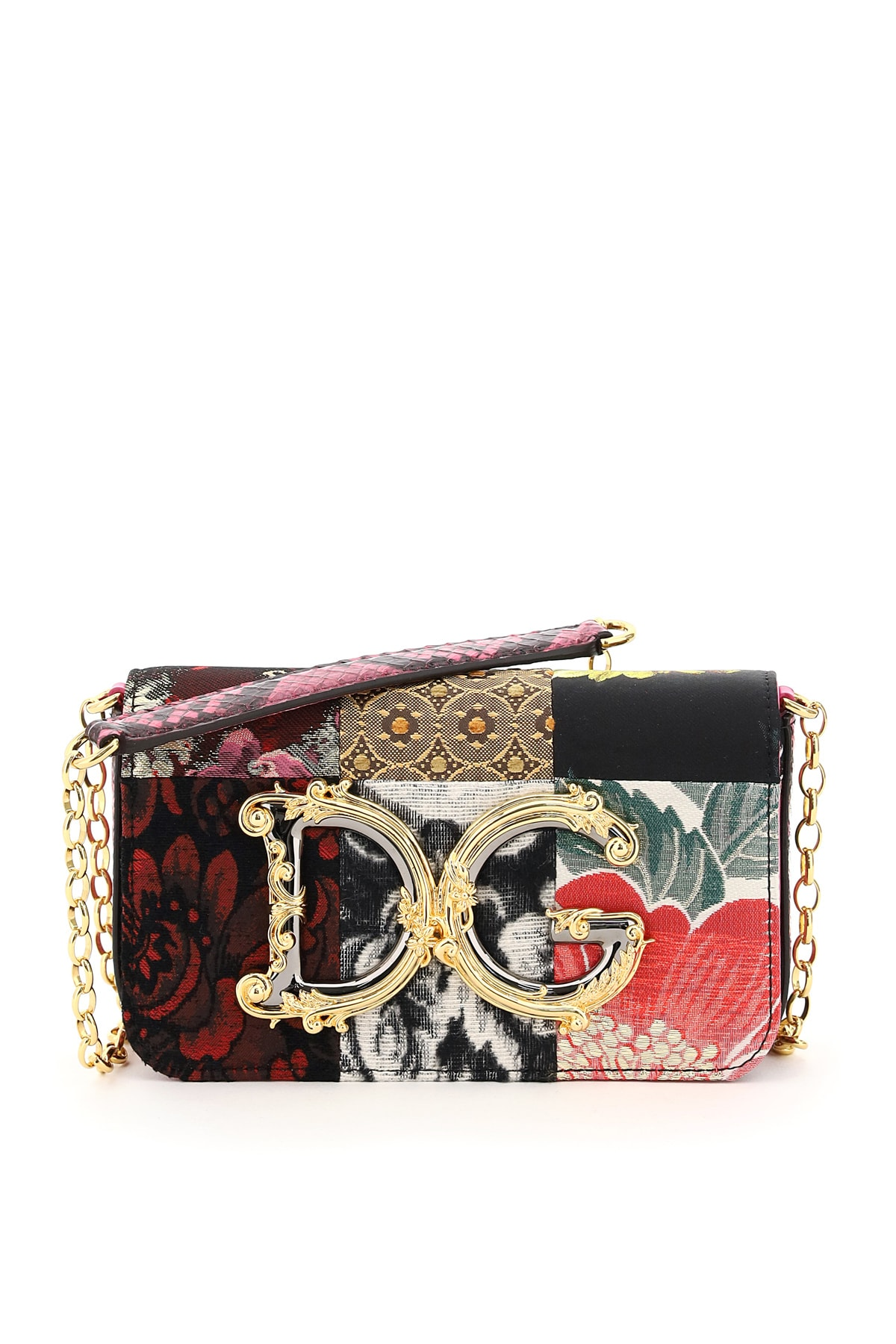 Dolce & Gabbana PATCHWORK DG GIRL BAROCCO MINI BAG