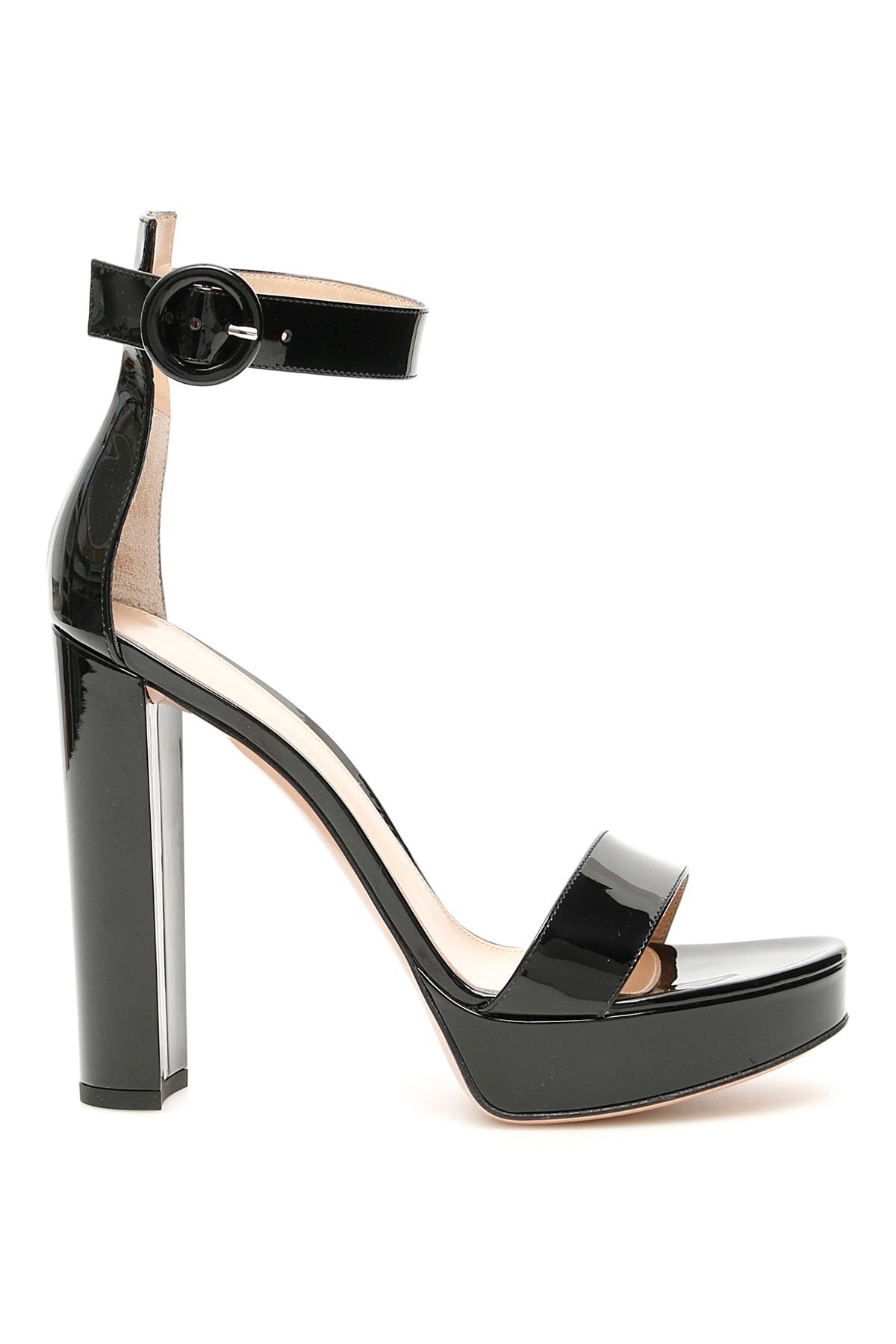 Gianvito Rossi Patent Portofino Sandals