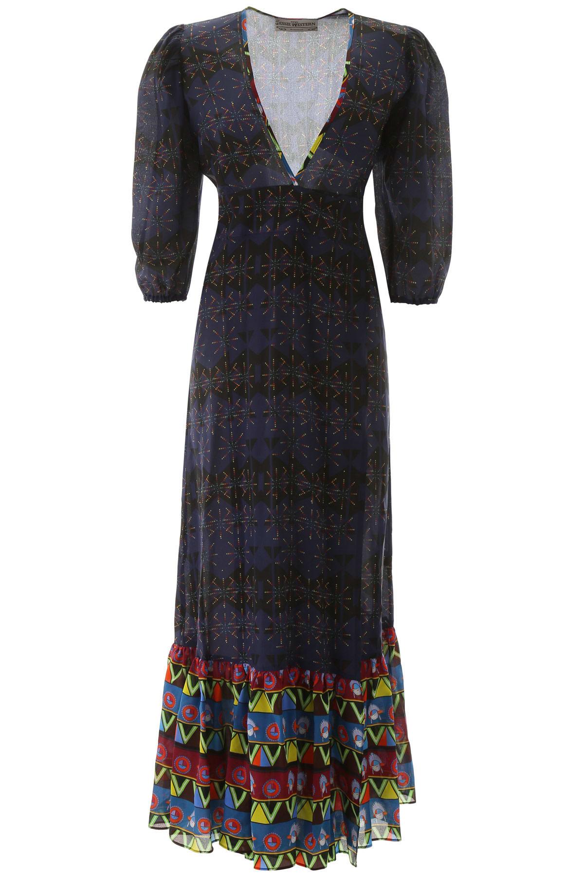 Buy Jessie Western Rainbow Stars Maxi Dress online, shop Jessie Western with free shipping
