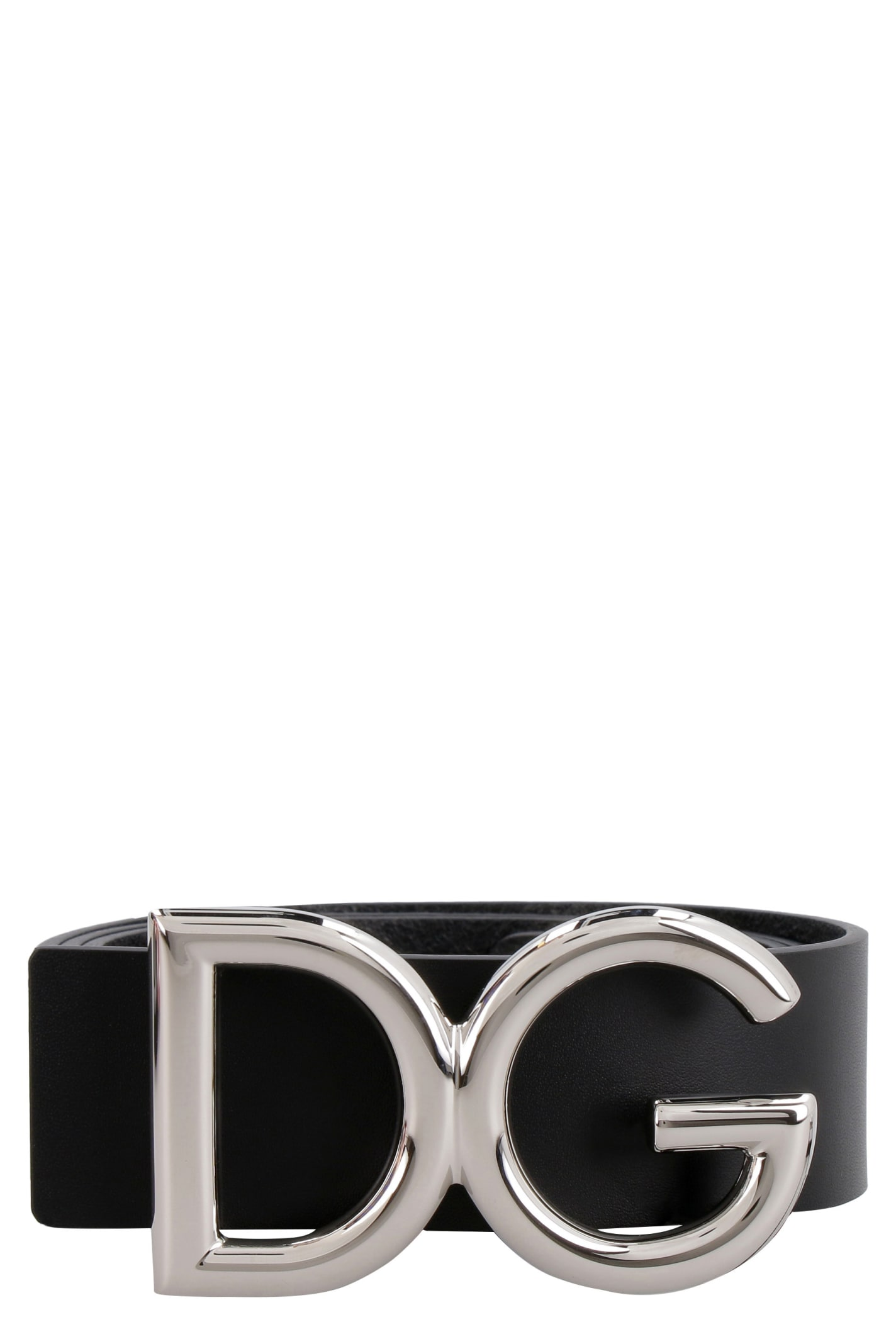 DOLCE & GABBANA LEATHER BELT WITH BUCKLE