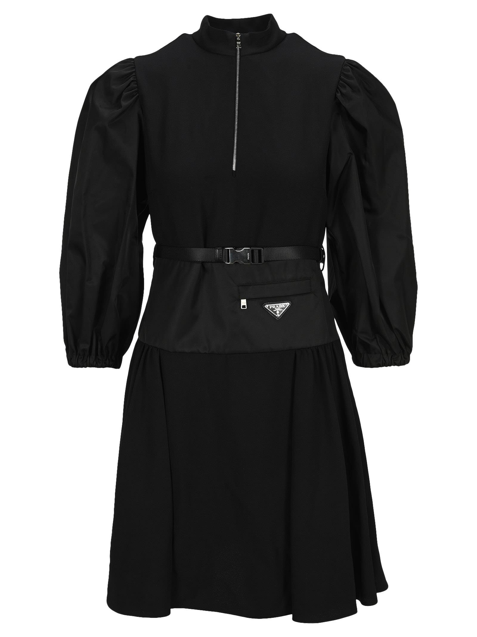 Buy Prada Re-nylon Belted Dress online, shop Prada with free shipping