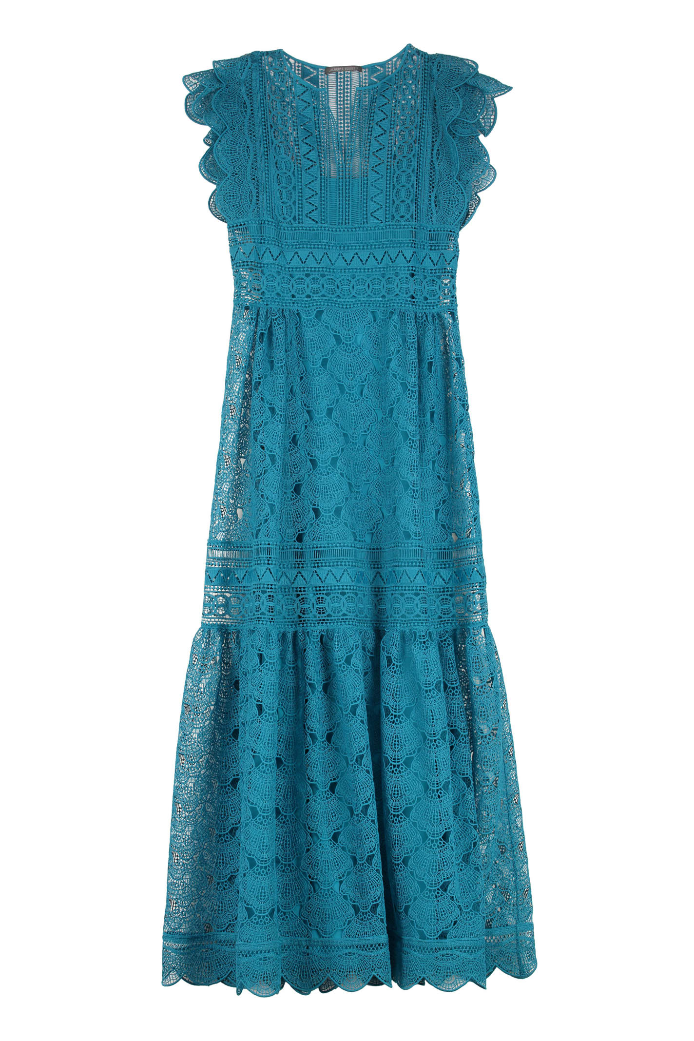 Buy Alberta Ferretti Macramè Lace Maxi Dress online, shop Alberta Ferretti with free shipping