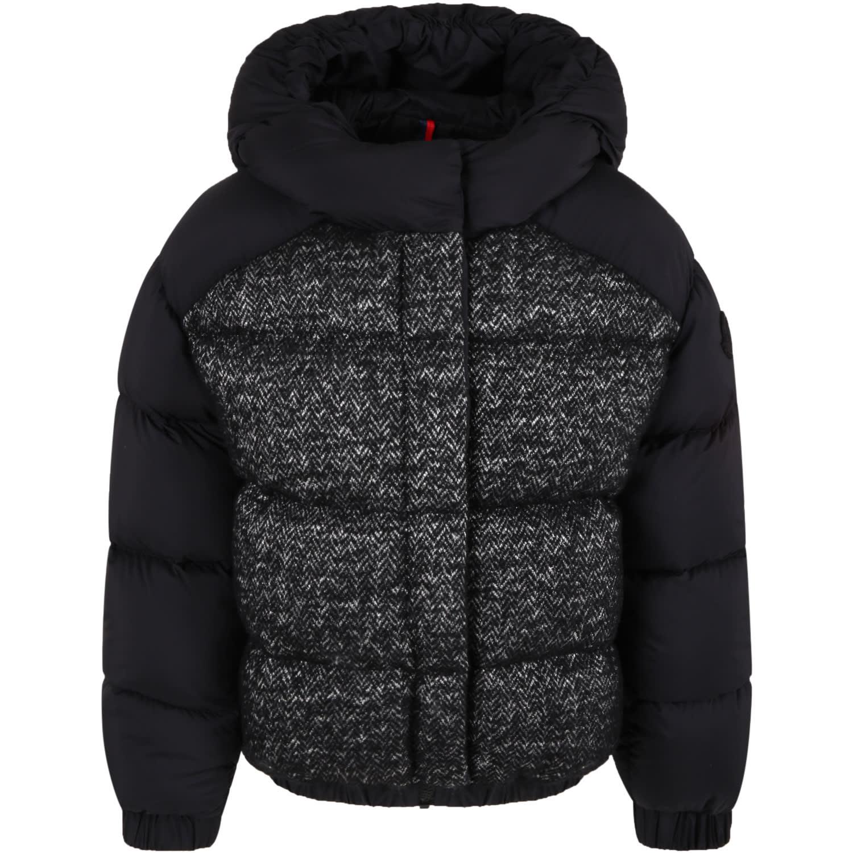 Moncler Black hanife Jacket For Girl
