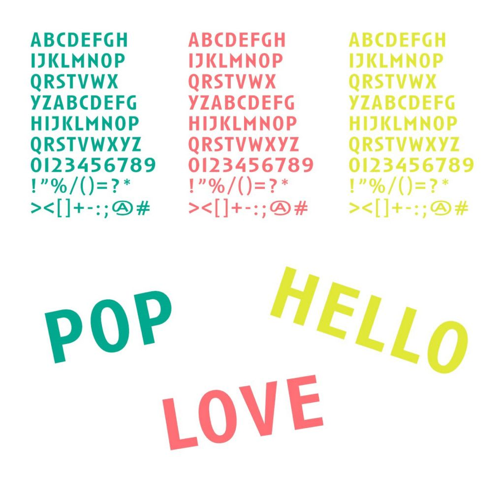 Accessories-stickers Letters
