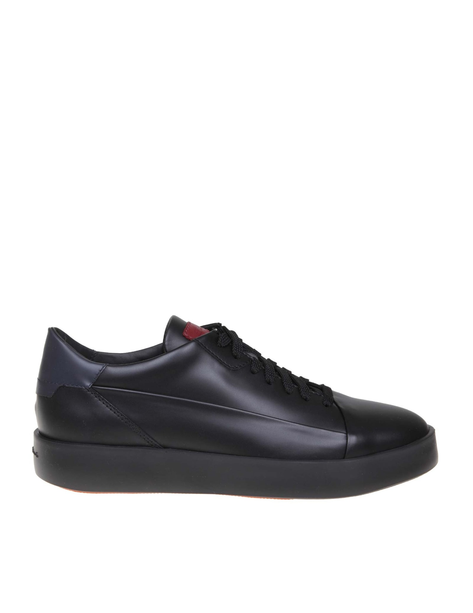 superior quality fb4b8 6badc Santoni Sneakers Leather Lace-up
