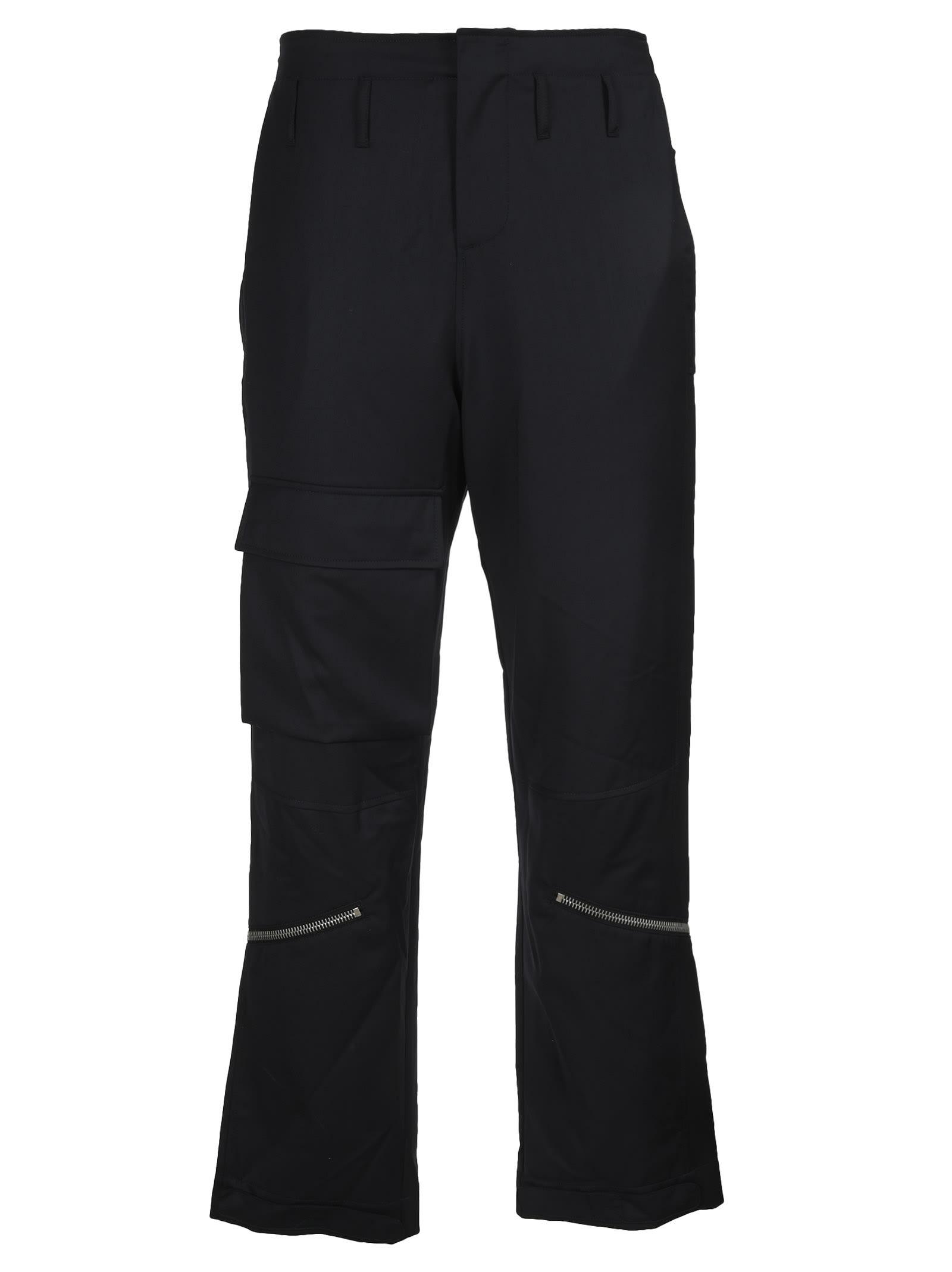 424 Virgin Wool Zip Detail Track Pants